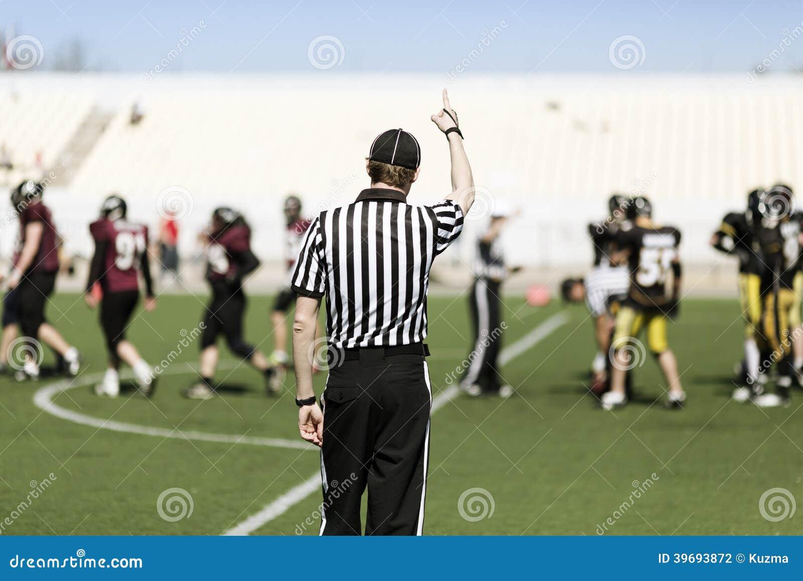 Árbitro Do Futebol Americano Com Mão Acima Foto de Stock - Imagem de ... e82fabb59d3d8