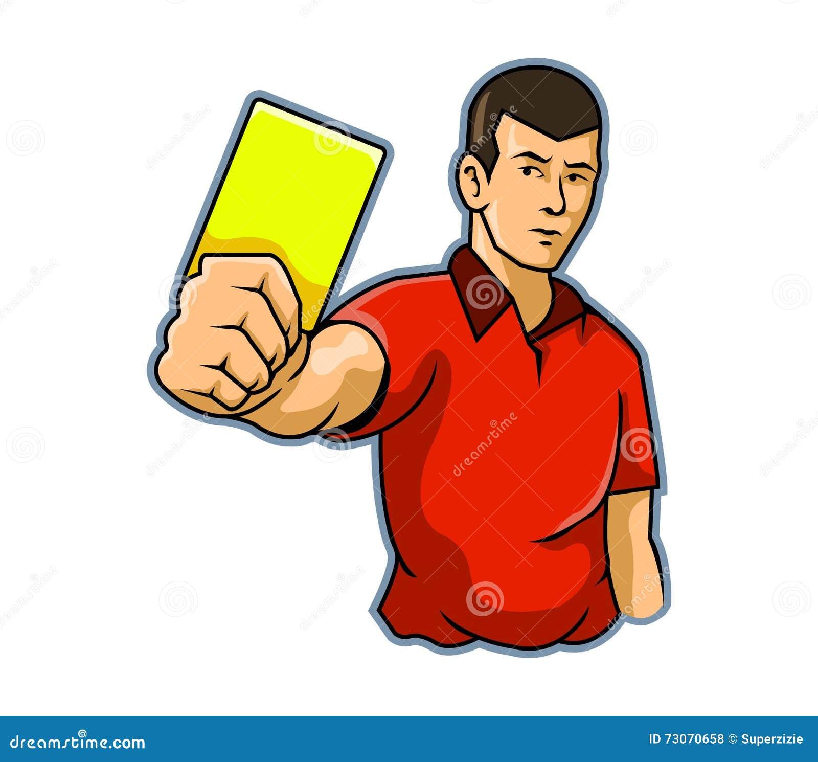 Árbitro Raise Yellow Card