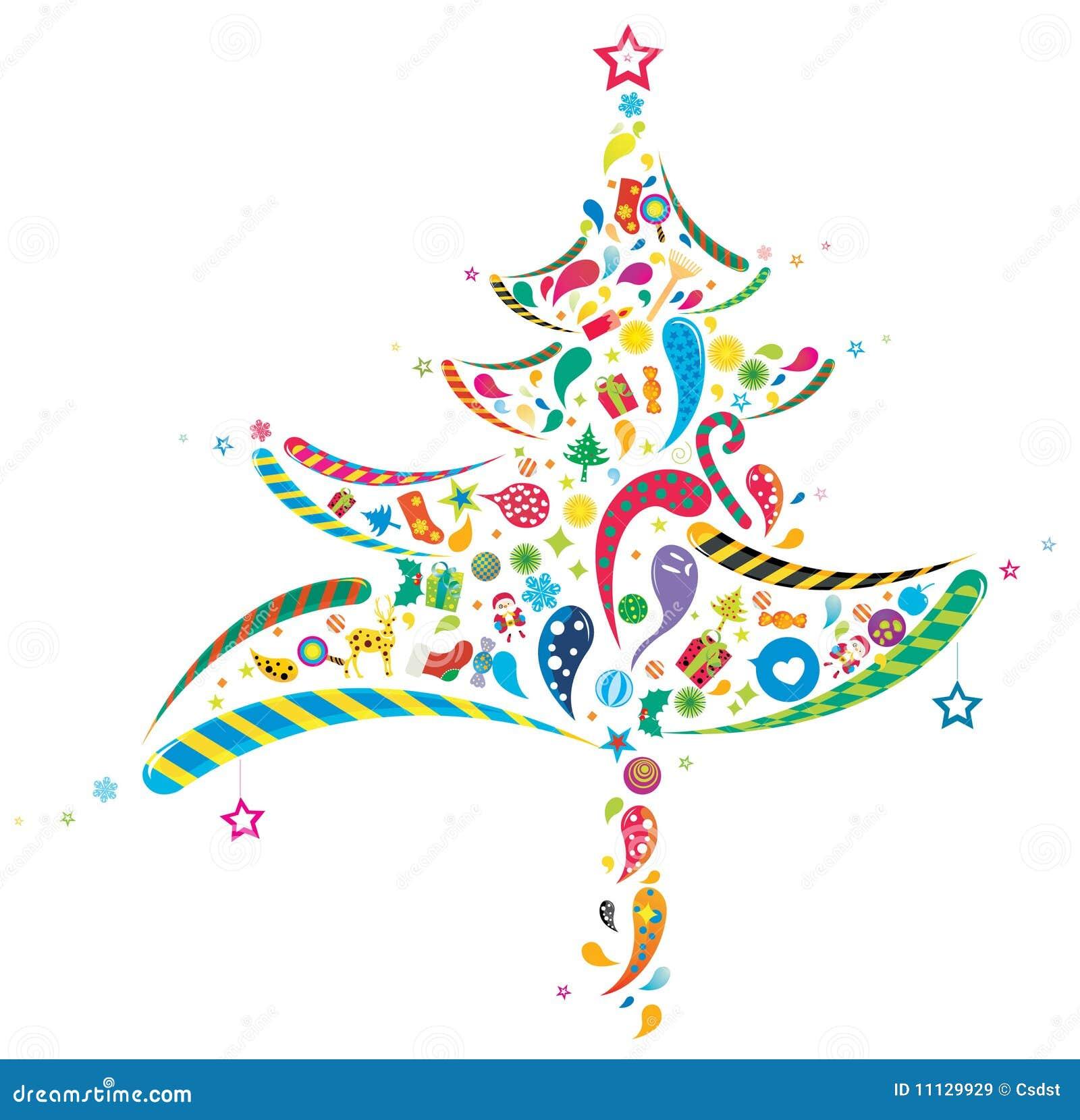 Árbol abstracto de Navidad ilustración del vector. Ilustración de ...
