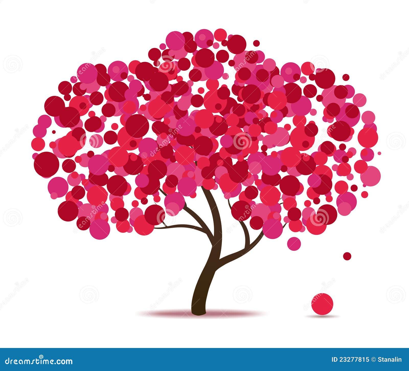Árbol abstracto rosado