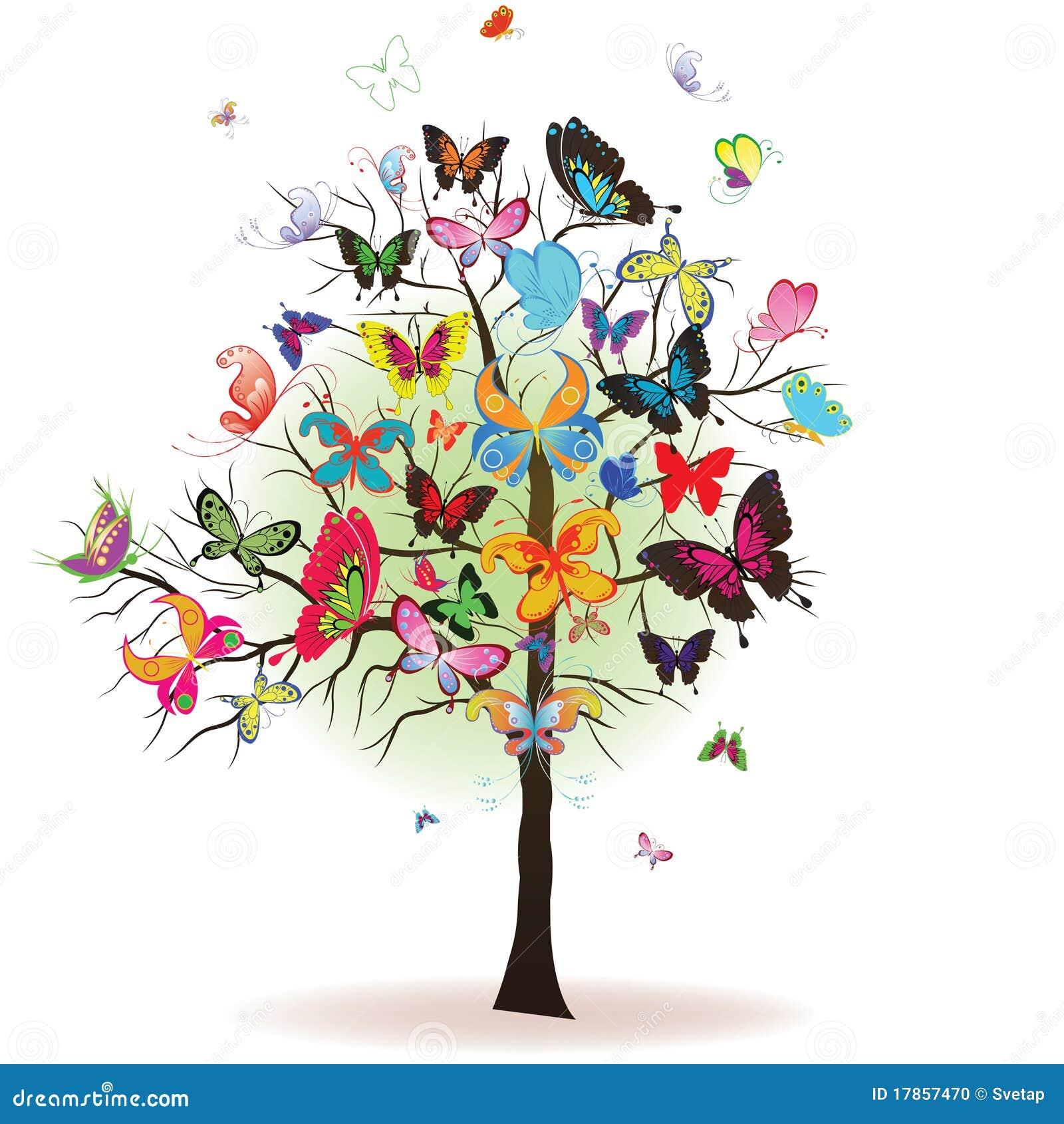 Árbol con la mariposa