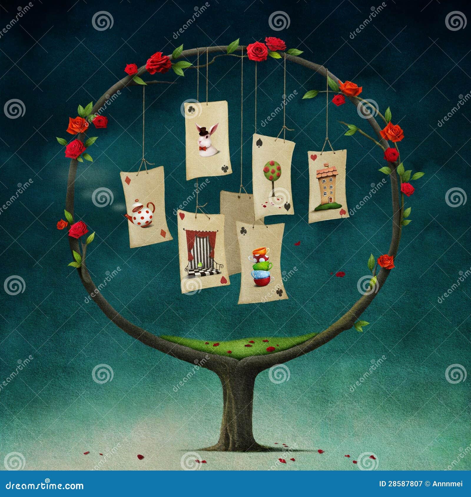 Árbol con las tarjetas