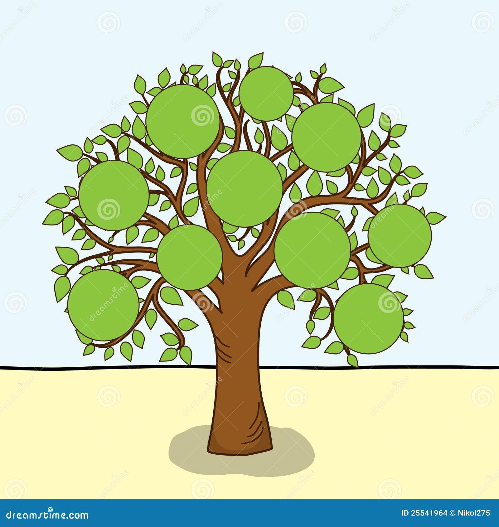Árbol de familia, vector