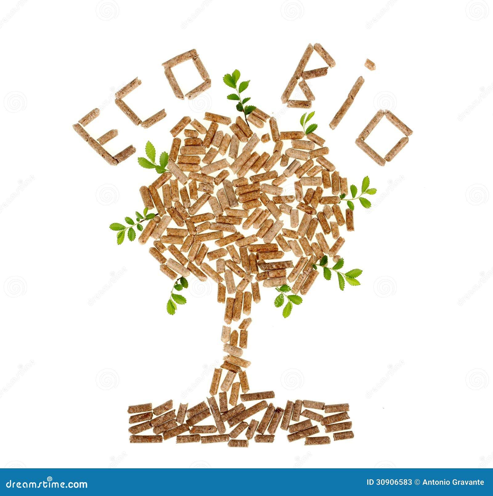 Árbol de la pelotilla de madera