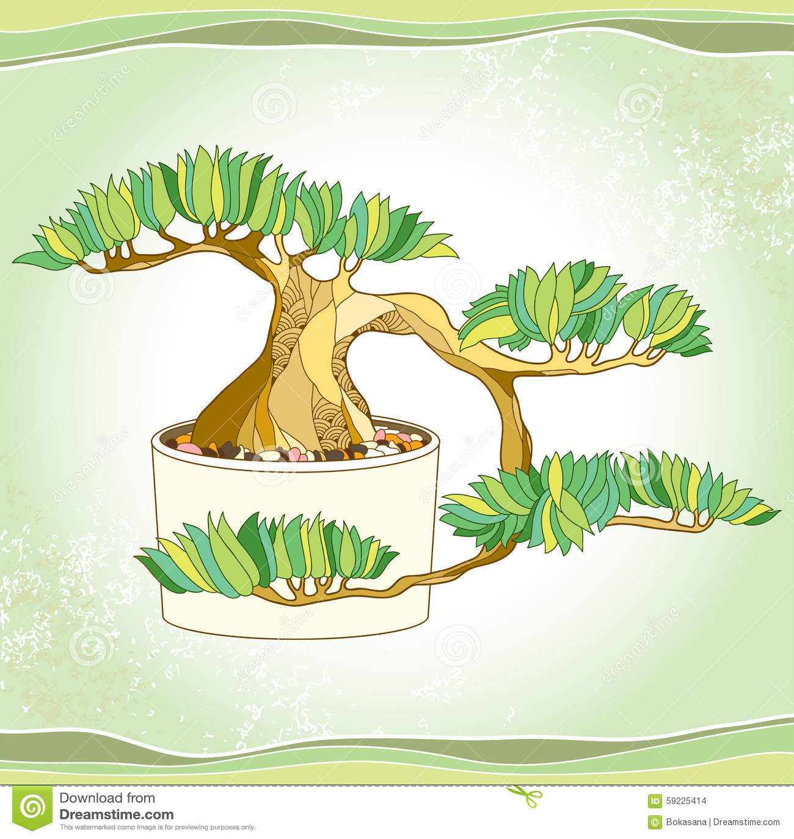 Download Árbol De Los Bonsais En El Pote Redondo En El Fondo Texturizado Símbolo Japonés Tradicional Ilustración del Vector - Ilustración de botánica, bonsai: 59225414