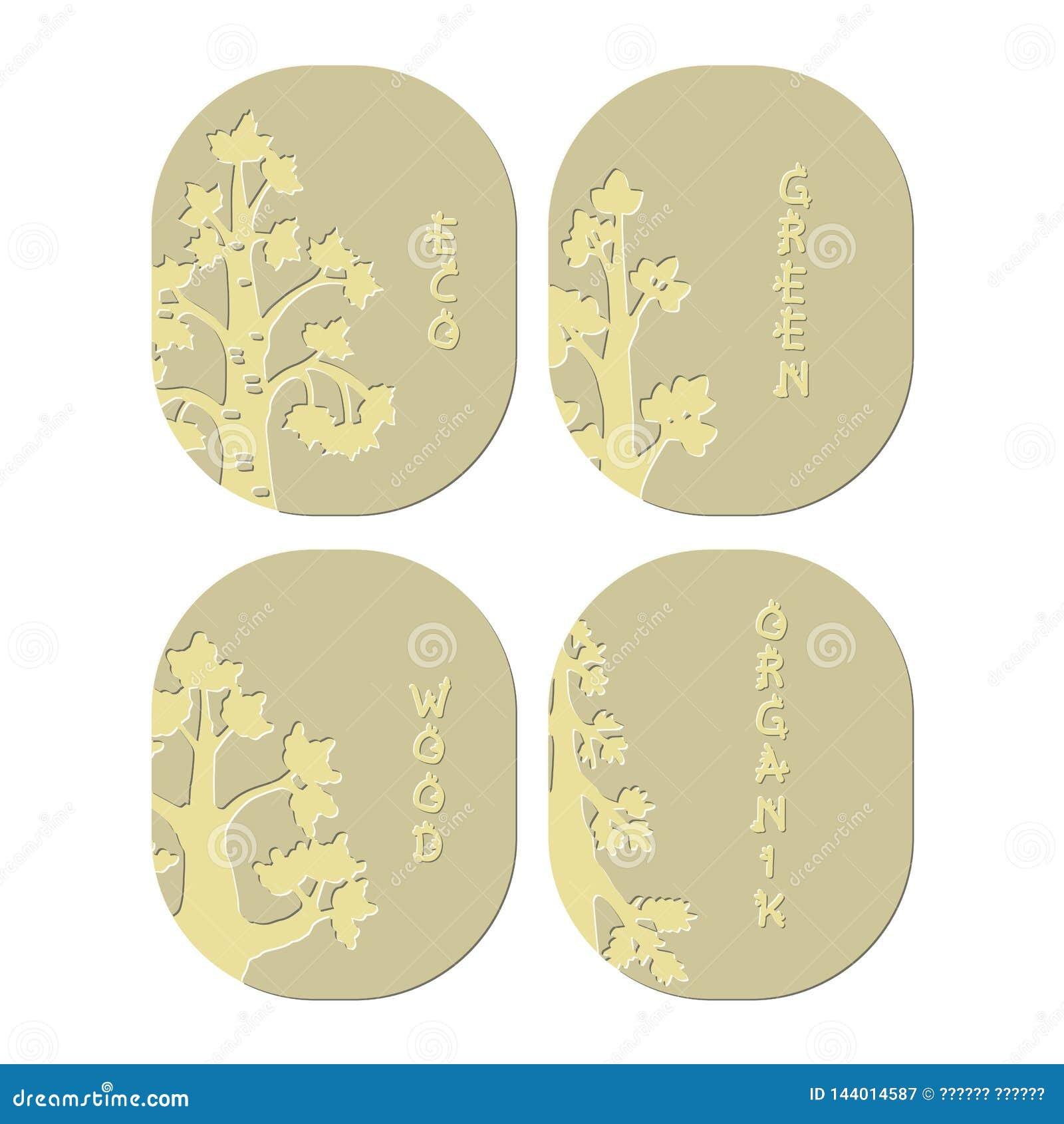 Árbol de los emblemas Madera orgánica del verde de Eco