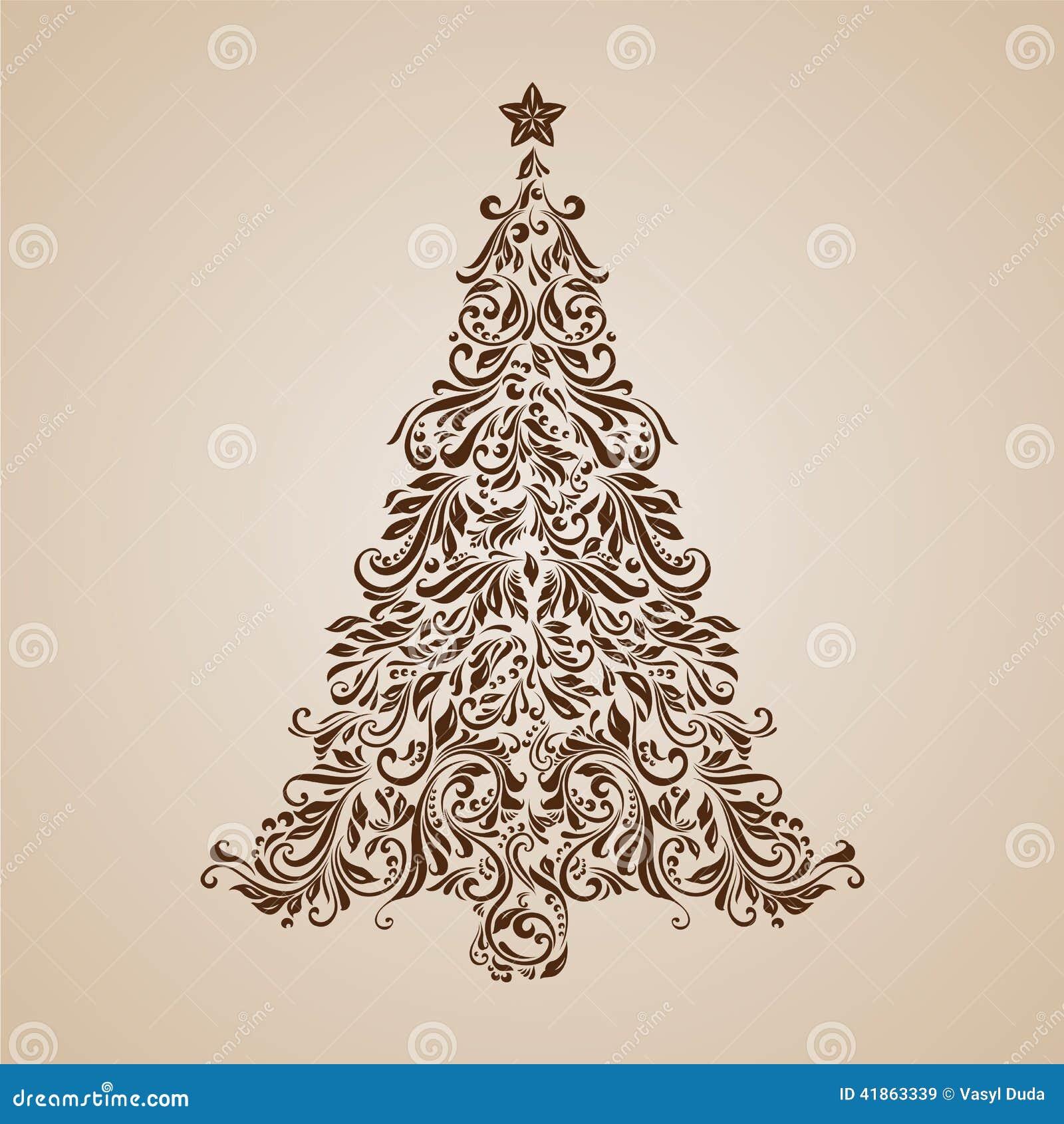Rbol de navidad ilustraci n del vector imagen 41863339 - Arbol de navidad elegante ...