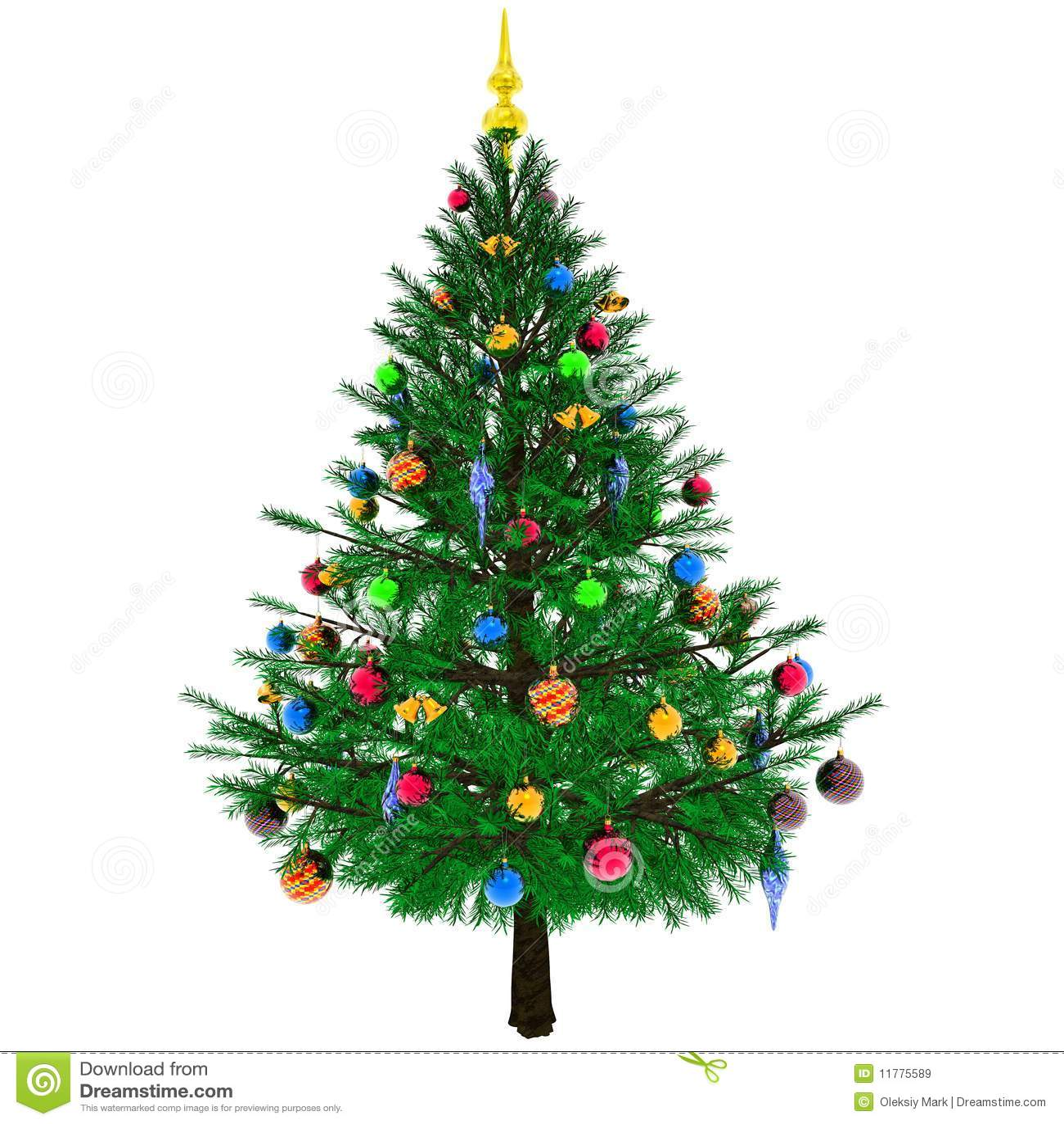 Rbol de navidad adornado stock de ilustraci n imagen de - Arbol tipico de navidad ...