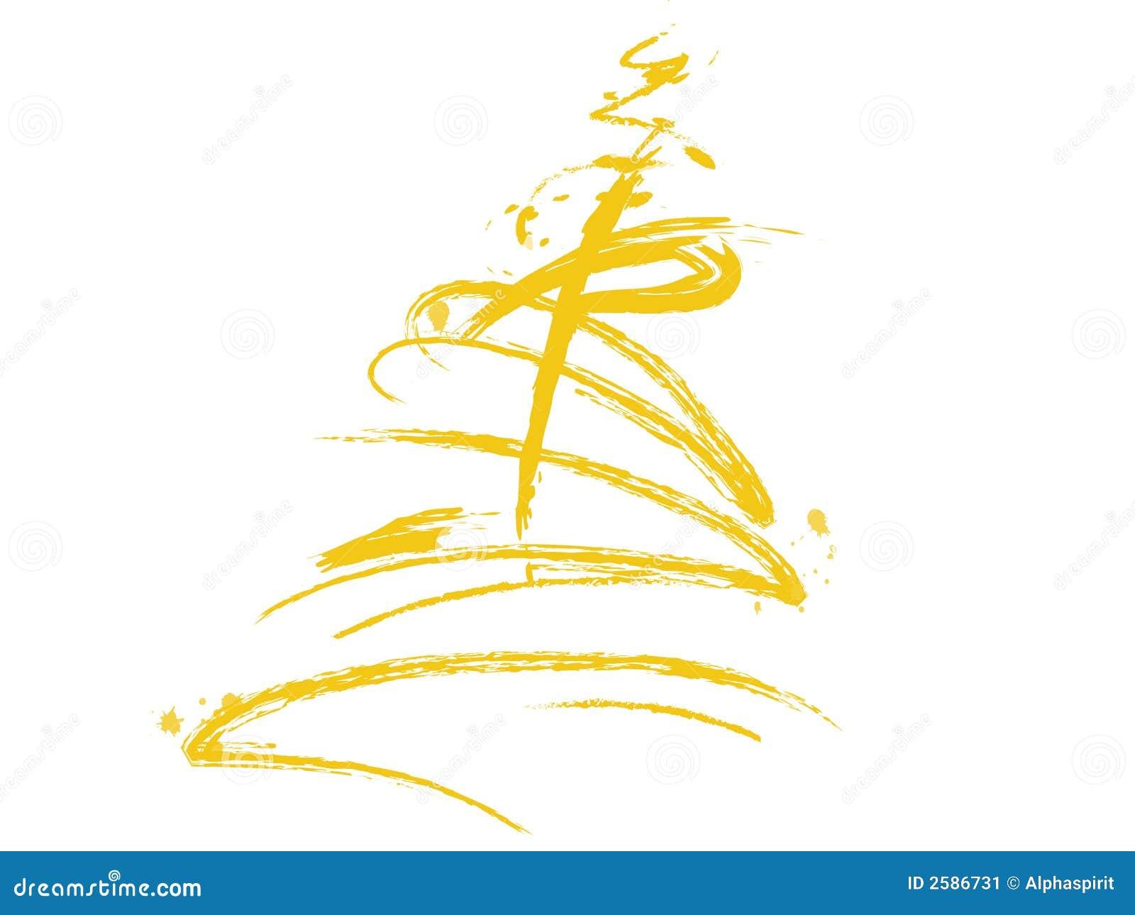 Árbol de navidad amarillo