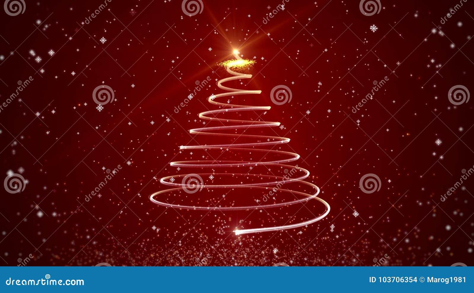 Imagenes Animadas Arboles Navidad.Arbol De Navidad Animado Video En Fondo Rojo