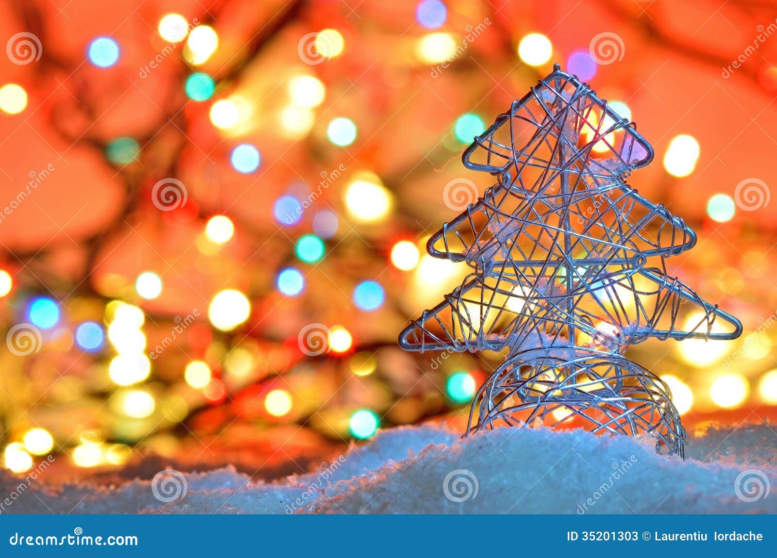 Rbol de navidad atado con alambre plata fotos de archivo - Arbol de navidad de alambre ...