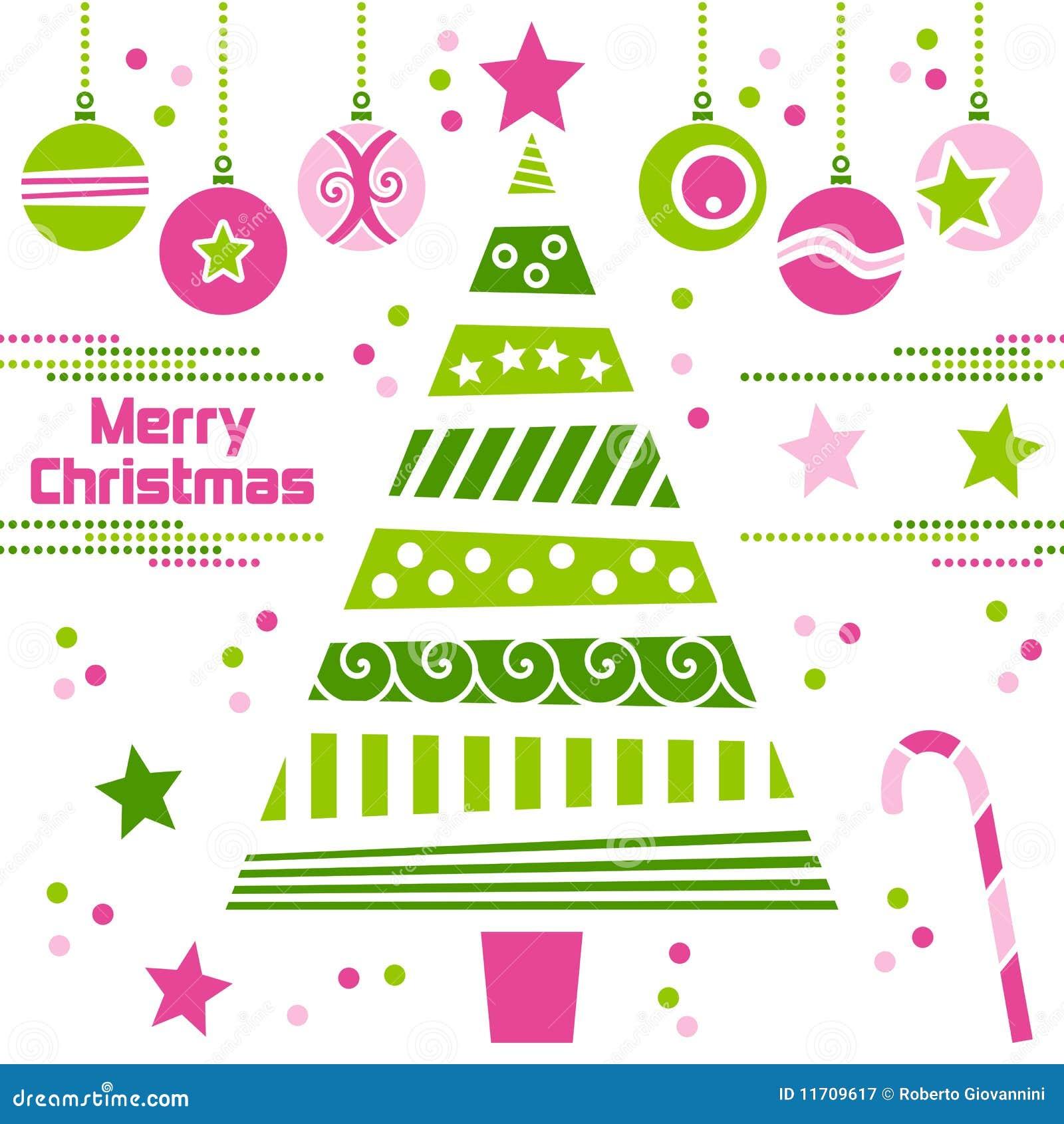Rbol de navidad con las bolas ilustraci n del vector - Arbol de navidad de bolas ...