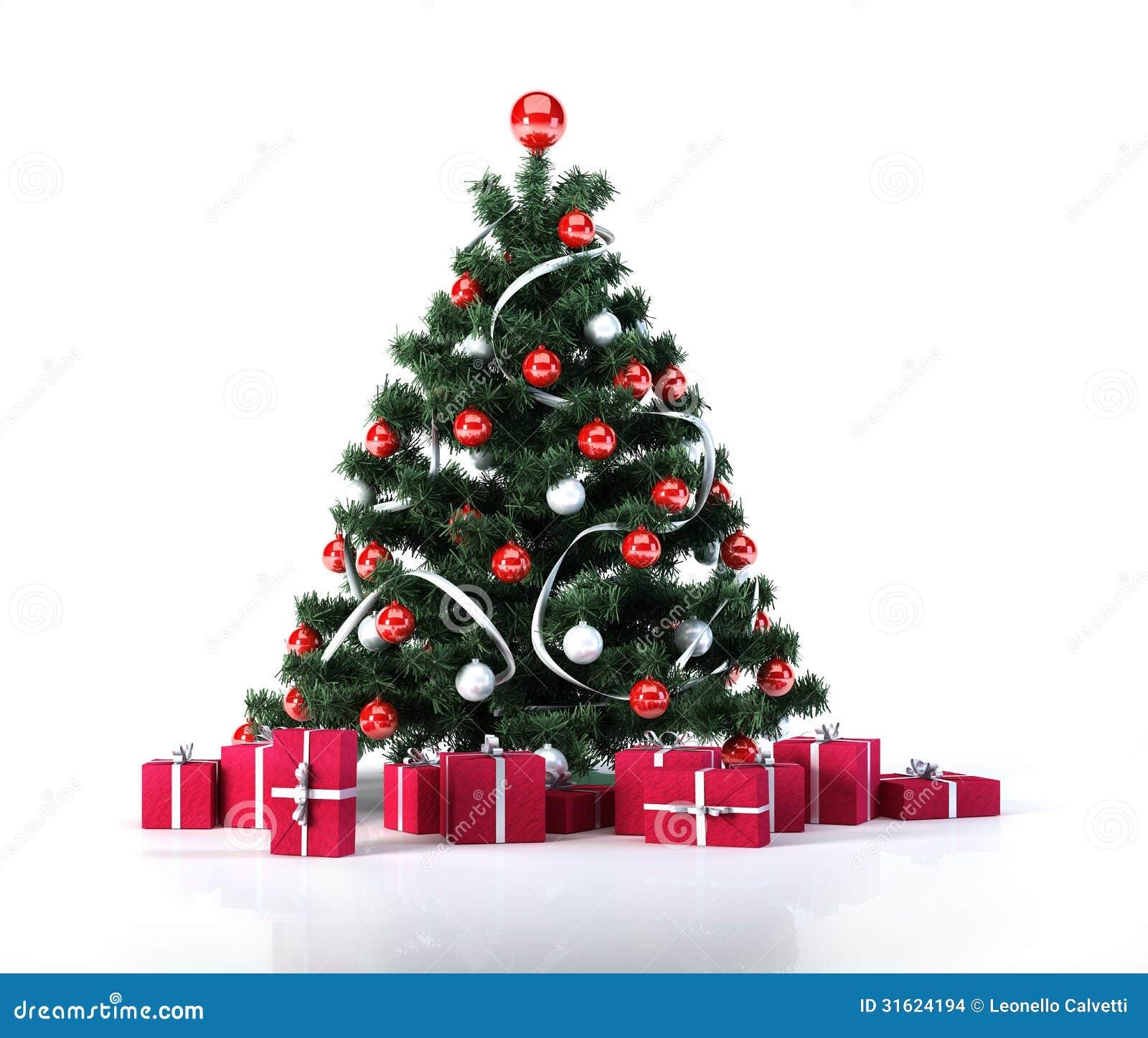Rbol de navidad con las bolas de oro la decoraci n y los - Arbol de navidad de bolas ...
