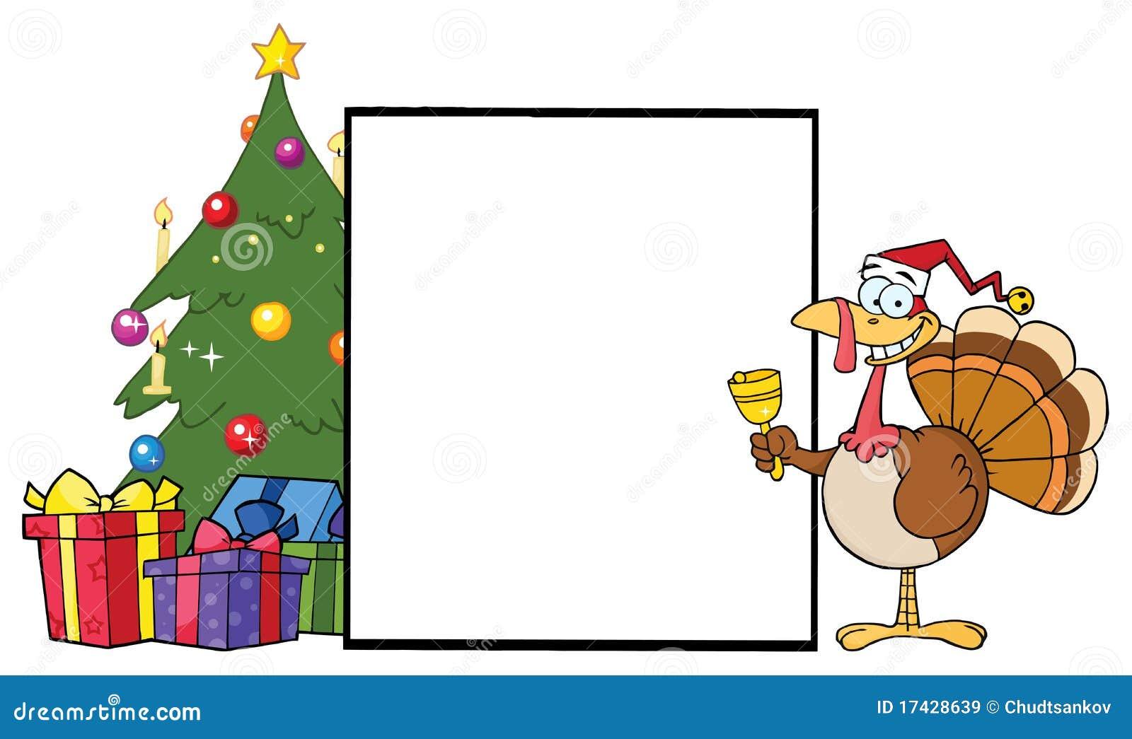 árbol De Navidad Con Un Pavo Del Campanero De Alarma Ilustración Del