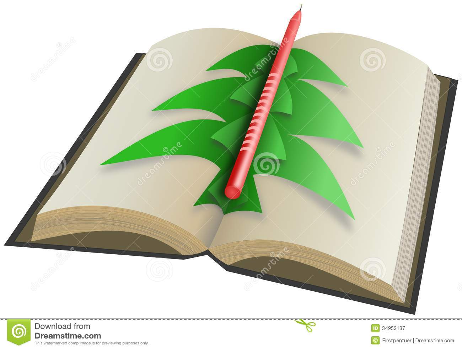 Rbol de navidad de papel en el libro abierto con la vela - Arbol de navidad con libros ...