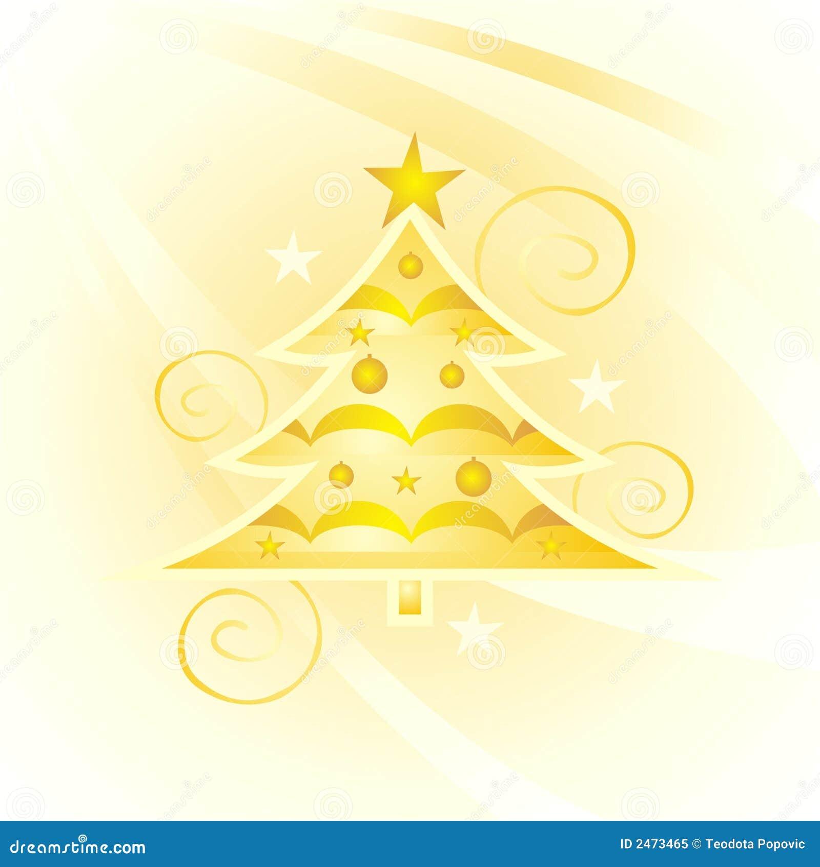 Árbol de navidad del oro