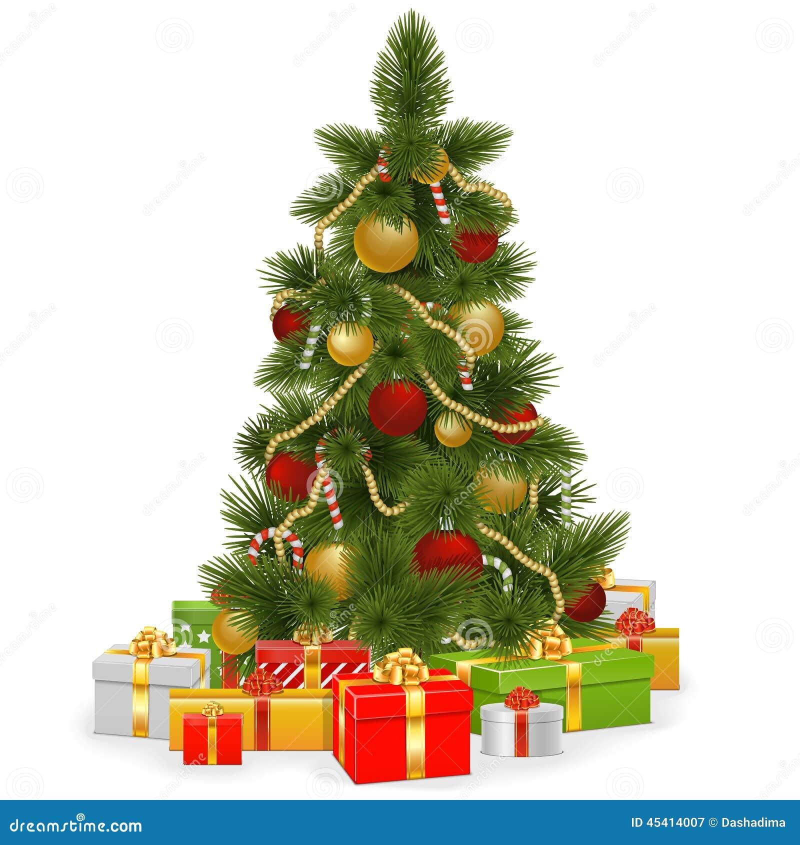 Rbol de navidad del vector con los regalos ilustraci n - Arbol de navidad con regalos ...