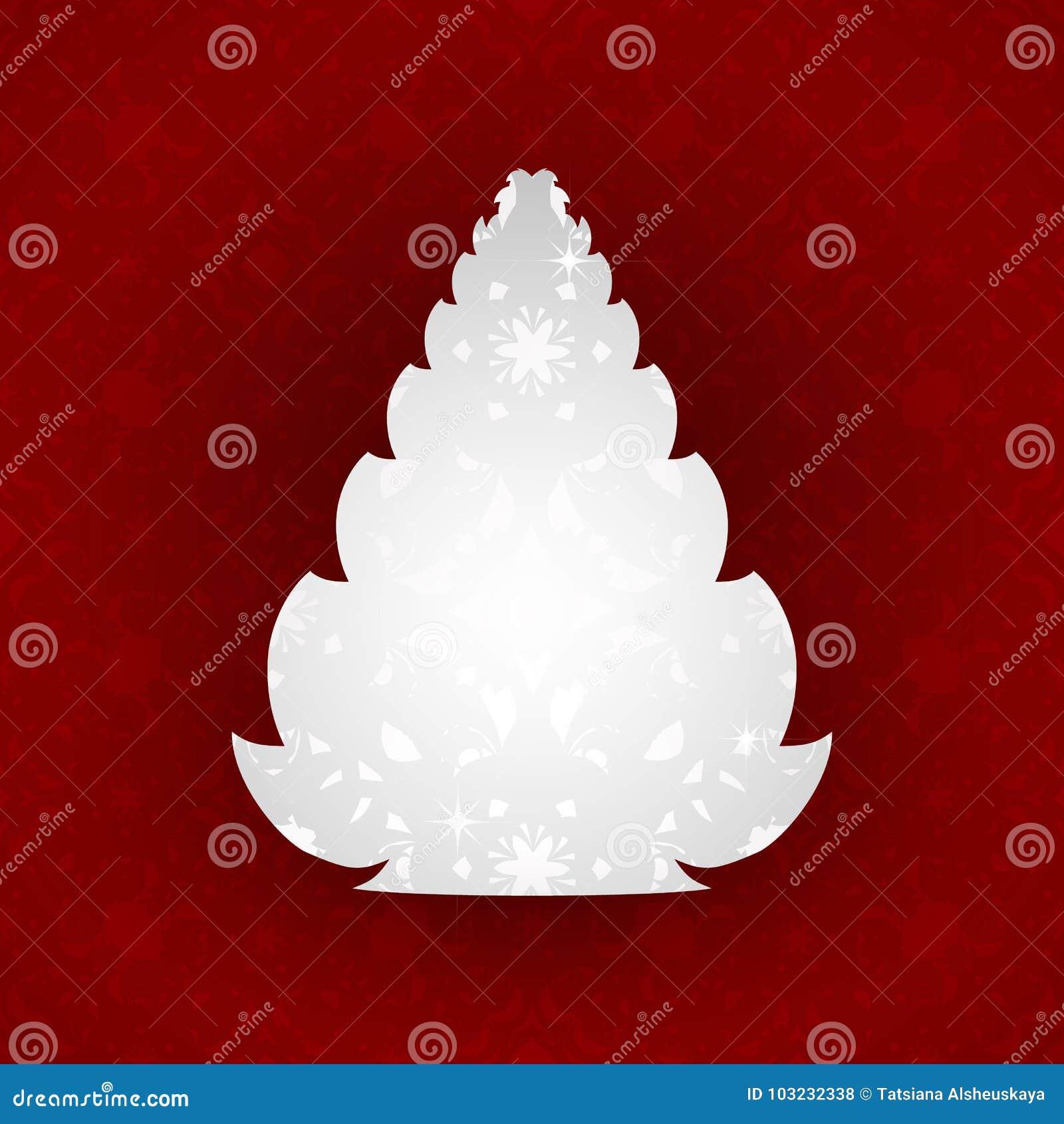 árbol De Navidad Diseño De Tarjetas De Felicitación Del Día