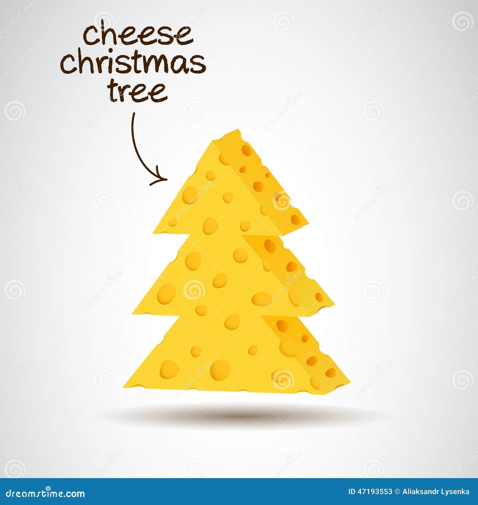 Rbol de navidad en dise o del queso ilustraci n del - Arbol navidad diseno ...