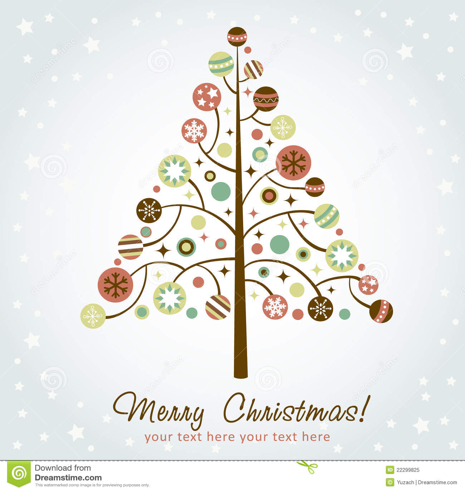 Rbol de navidad estilizado del dise o ilustraci n del - Arbol navidad diseno ...