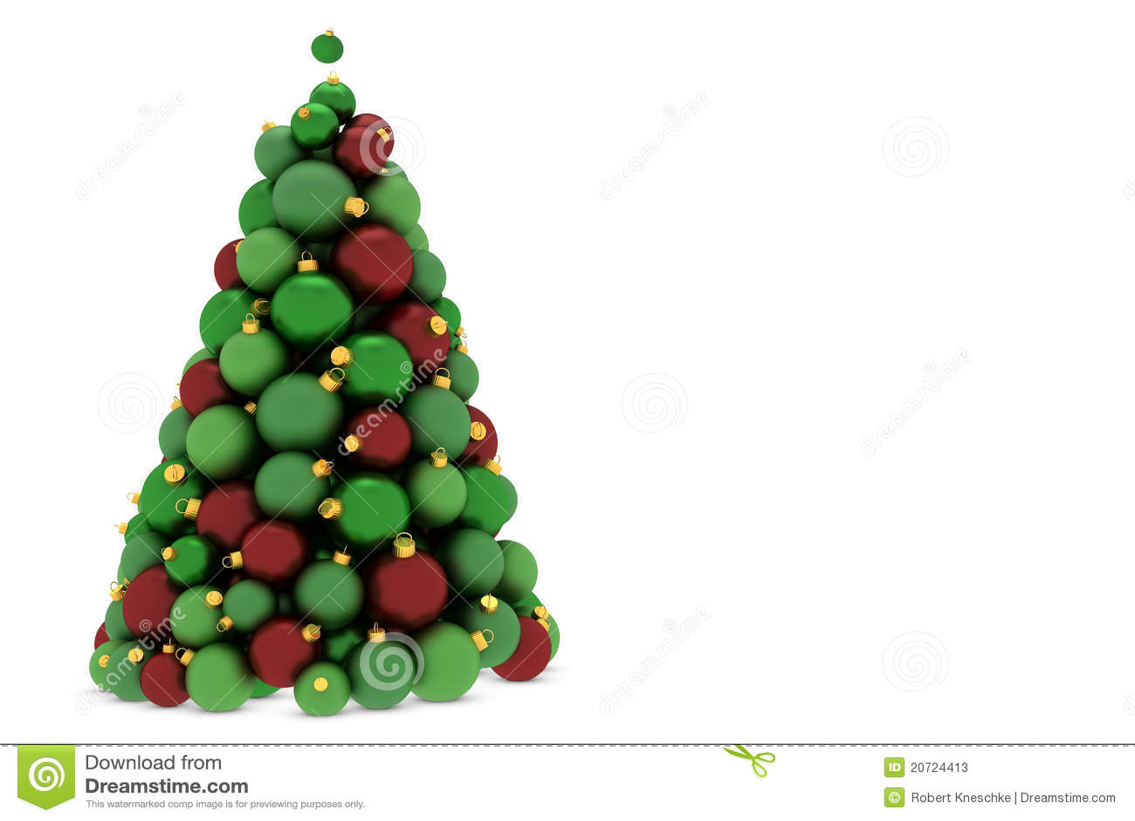 Rbol de navidad hecho de bolas del rbol de navidad stock for Arbol de navidad con bolas rojas