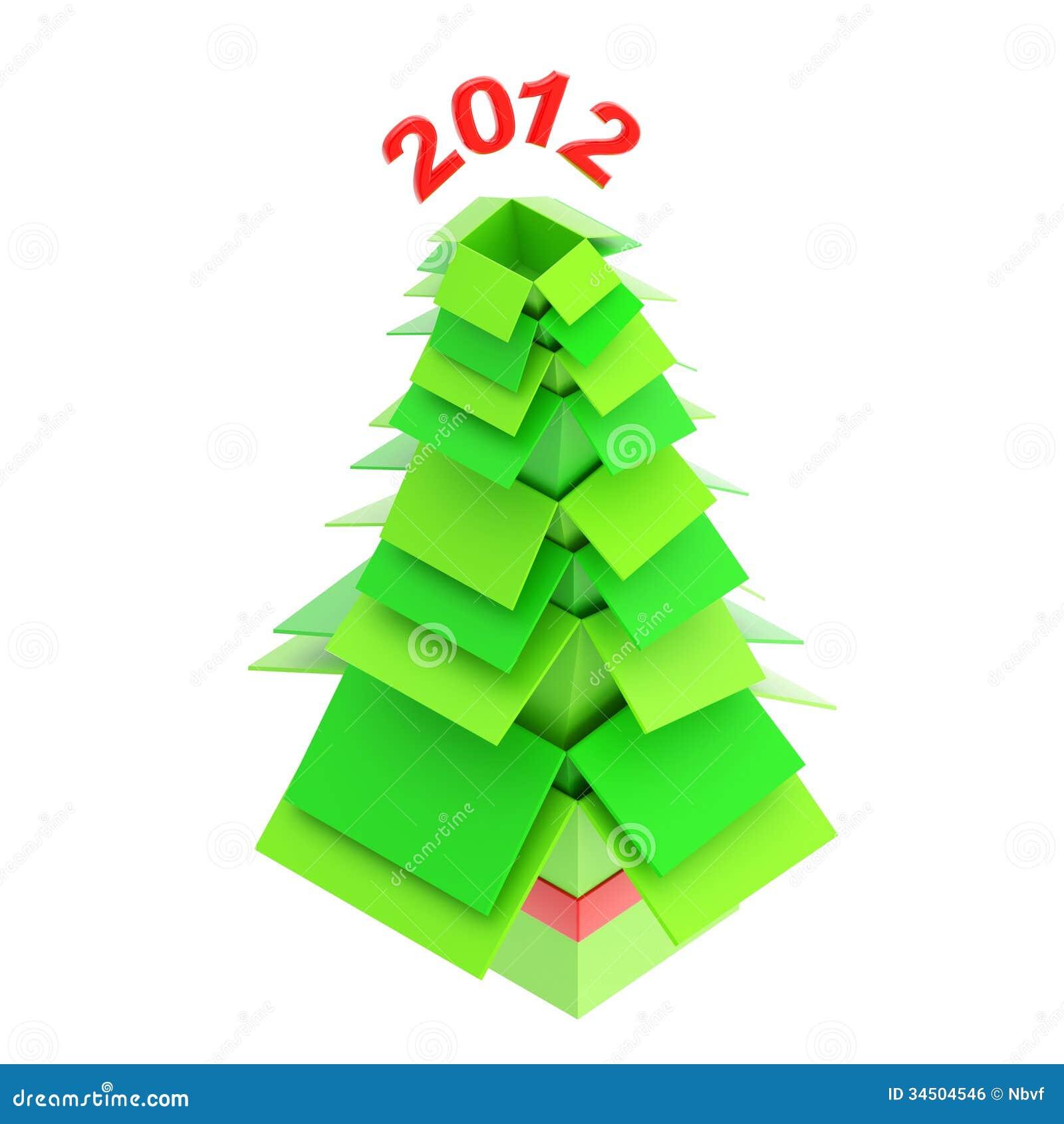 Rbol de navidad hecho de las cajas de cart n imagen de for Arbol de navidad con cajas de carton