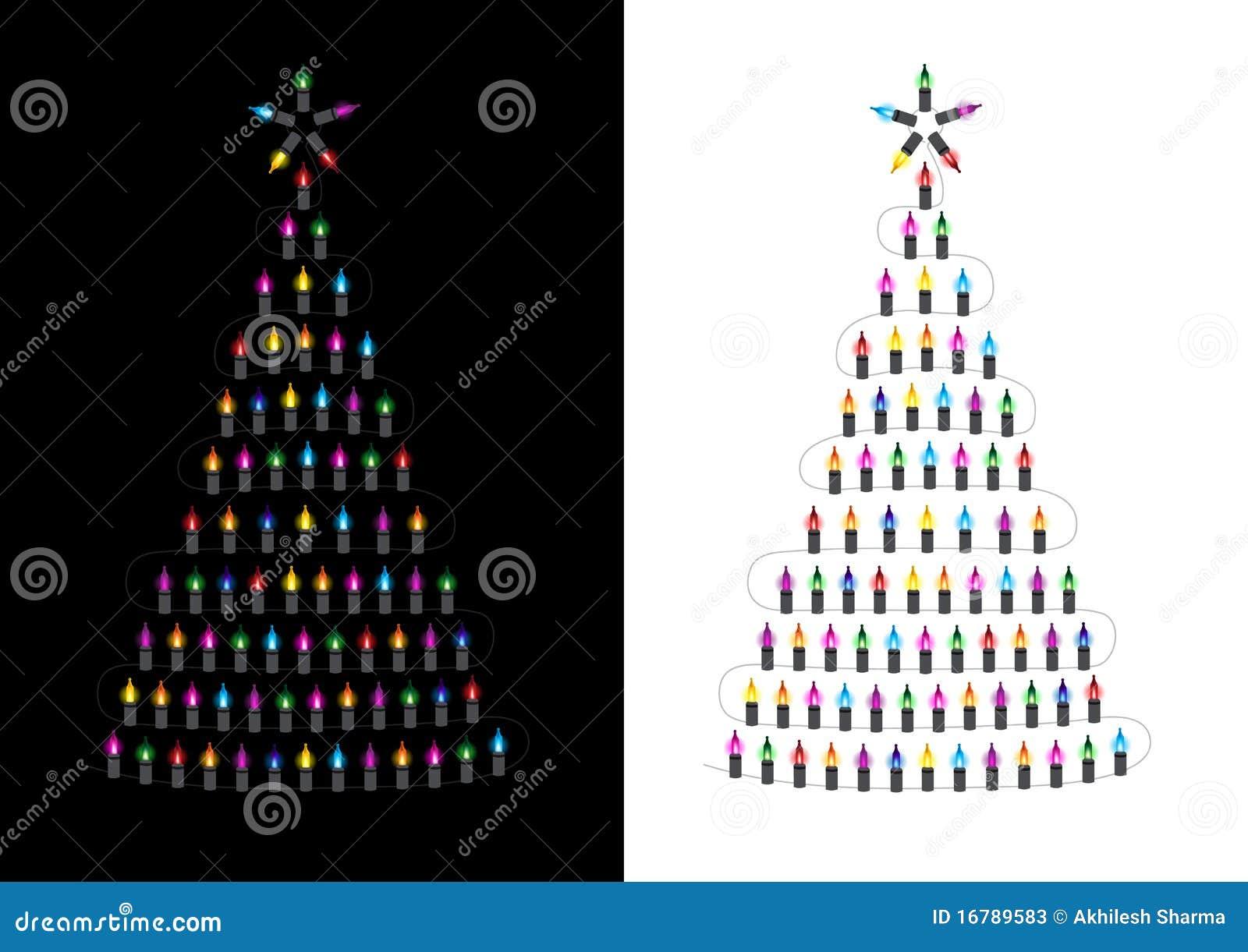 Arbol navidad luces acrlico lmpara de la decoracin de - Arbol de navidad hecho de luces ...