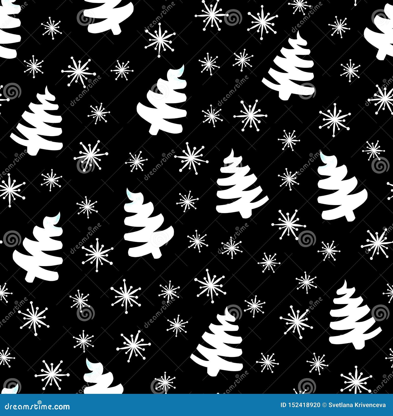 Árbol de navidad negro-blanco