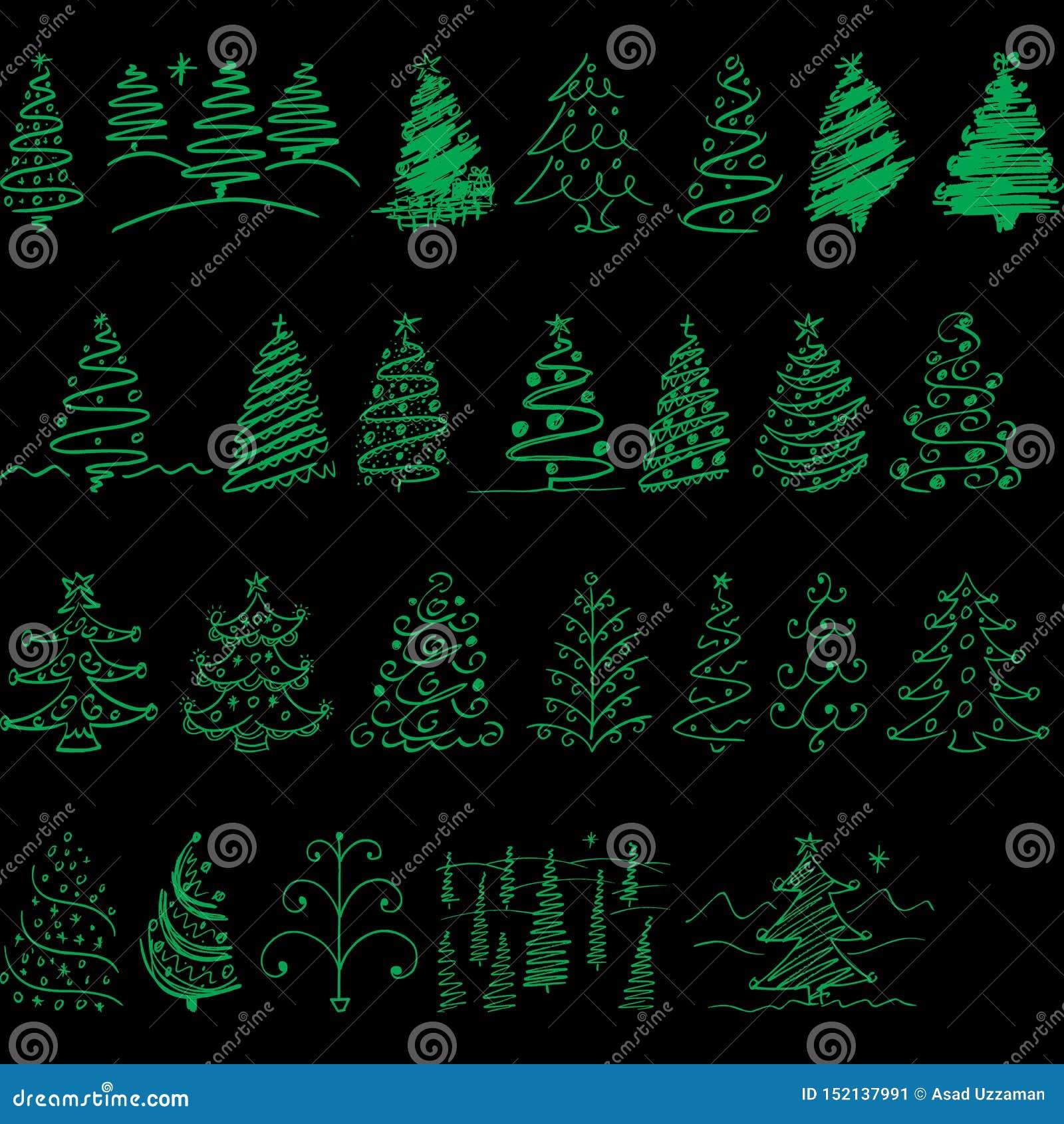 Árbol de navidad para el día de fiesta todo de Navidad gente