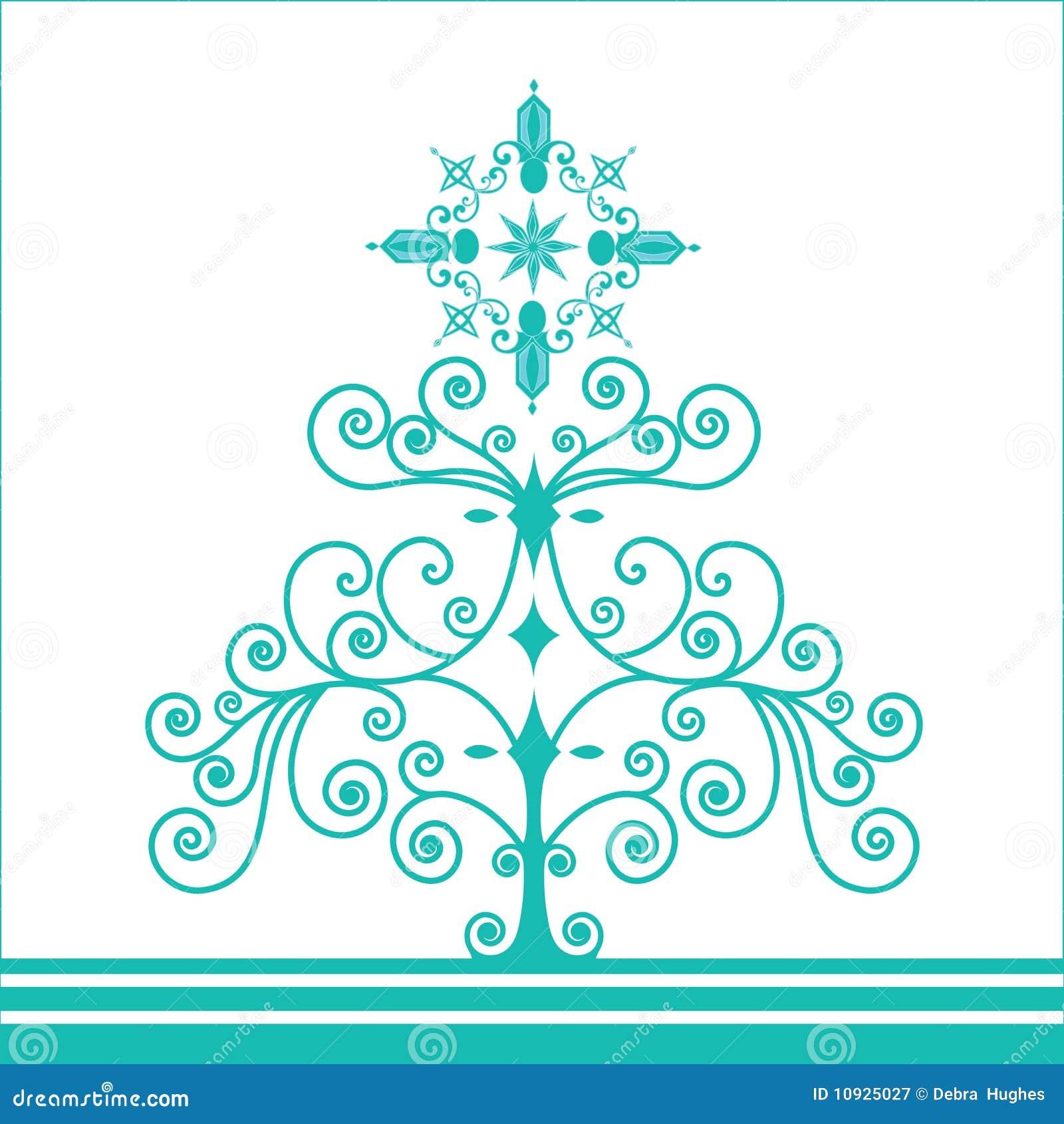 Árbol de navidad retro cobarde de la bobina