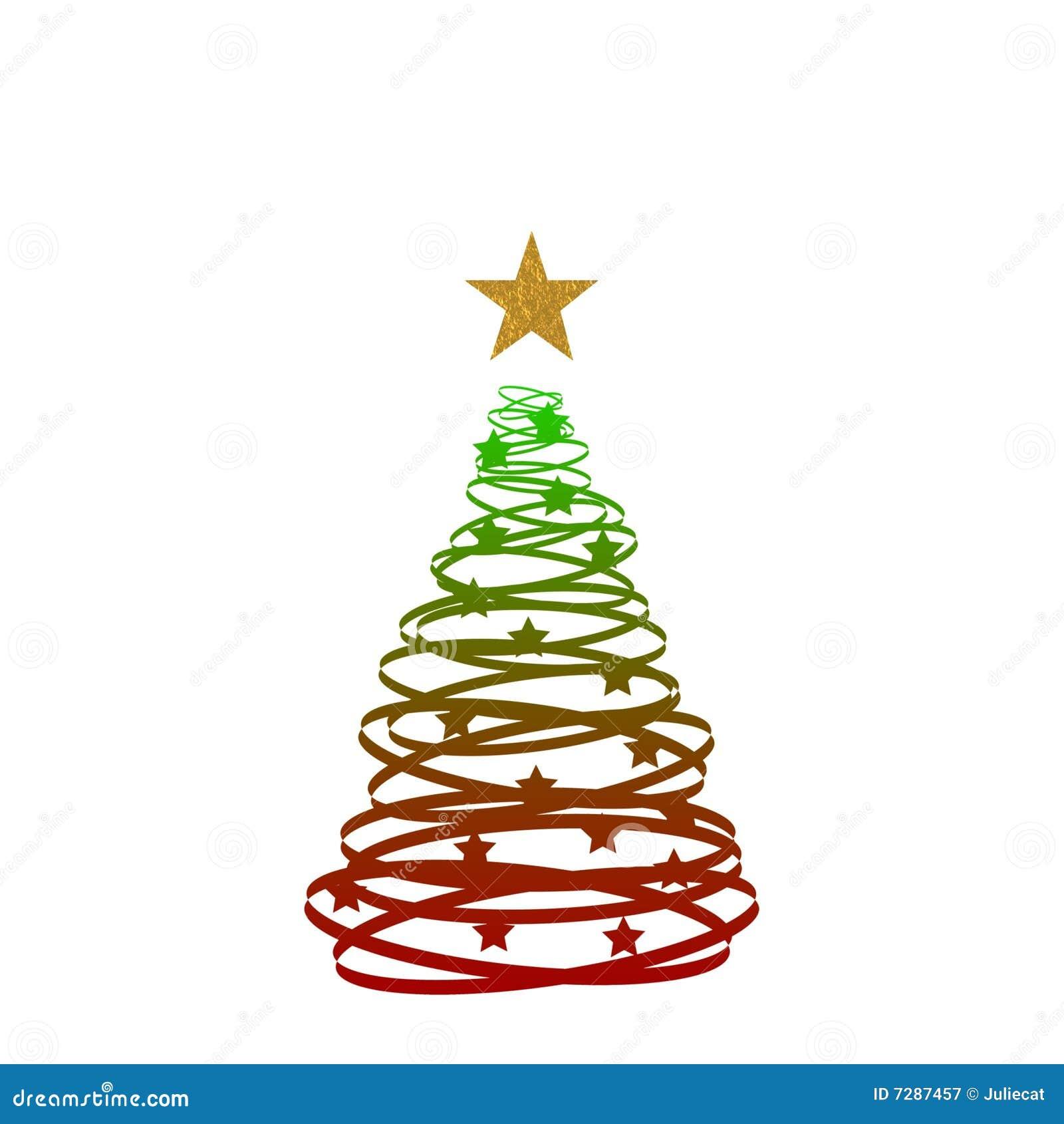Árbol de navidad rojo del oro verde