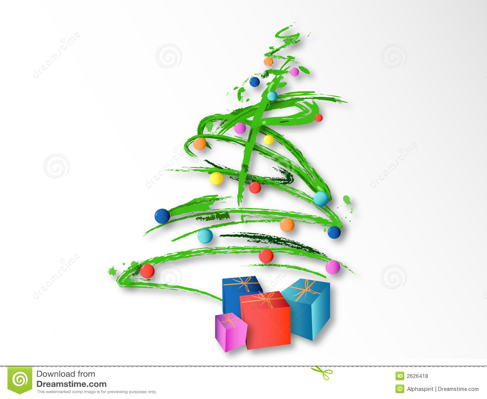 Árbol De Navidad (vector) Ilustración Del Vector