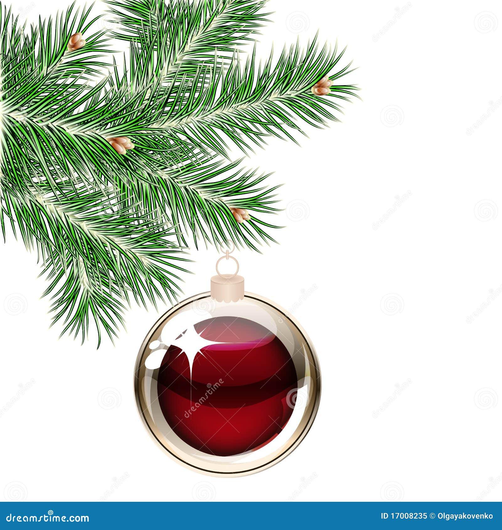 Rbol de navidad y bolas transparentes ilustraci n del vector imagen 17008235 - Bolas navidad transparentes ...