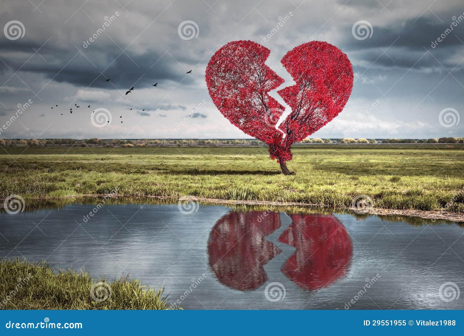 Árbol del corazón quebrado