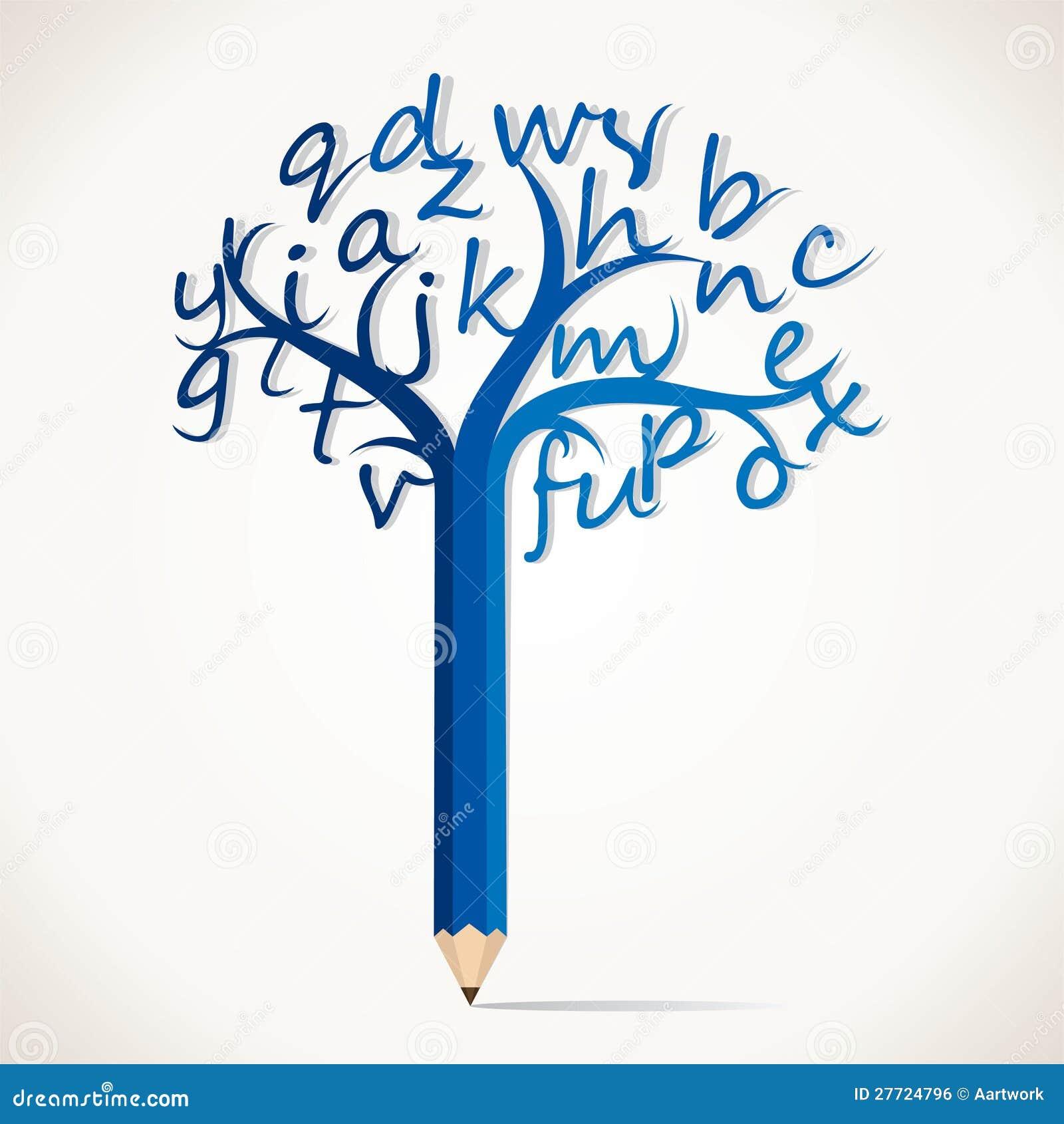 Rbol del l piz de la educaci n con alfabeto imagen de archivo libre de regal as imagen 27724796 - Arbre africain en 7 lettres ...
