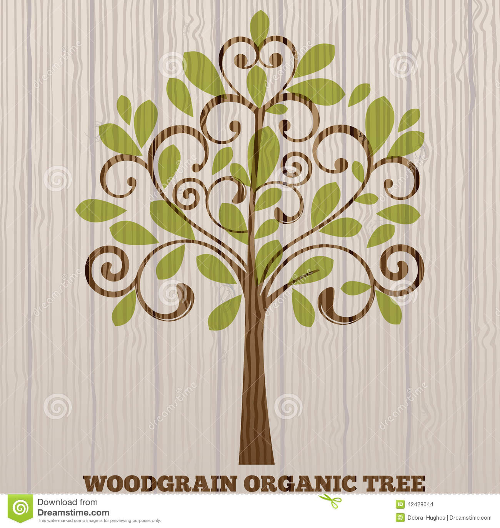 Árbol orgánico de la viruta