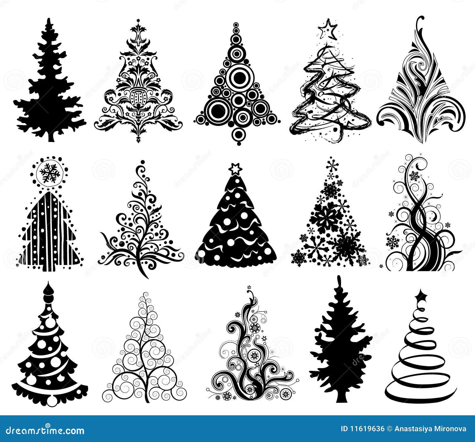 Rboles de navidad imagen de archivo libre de regal as - Arboles navidad modernos ...