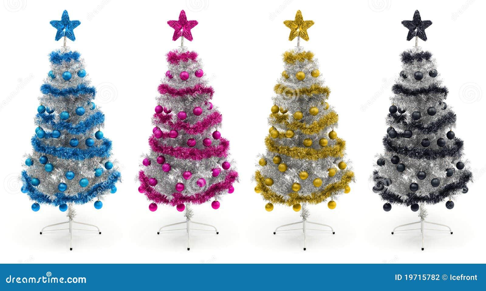 Rboles de navidad ci nicos magentas amarillos y negros - Disenos de arboles de navidad ...