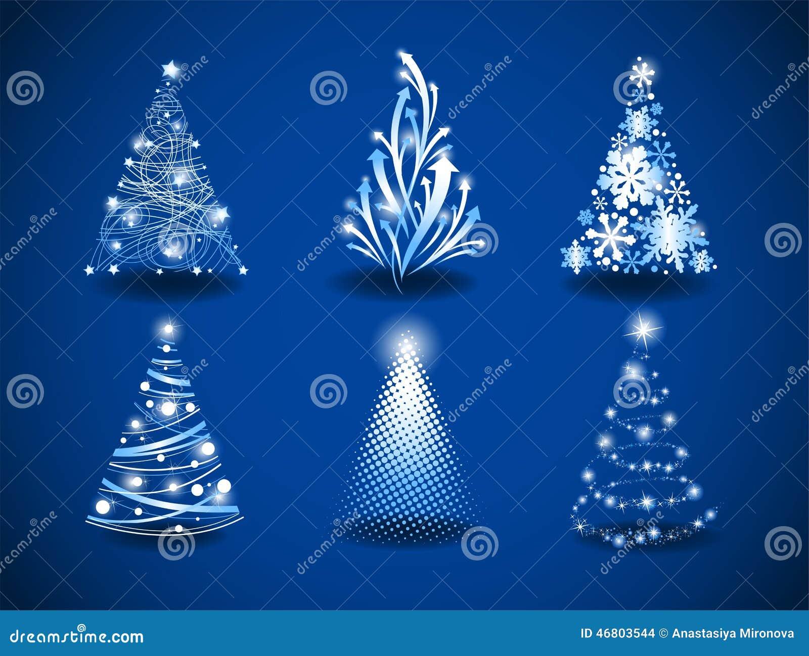 rboles de navidad modernos ilustracin del vector