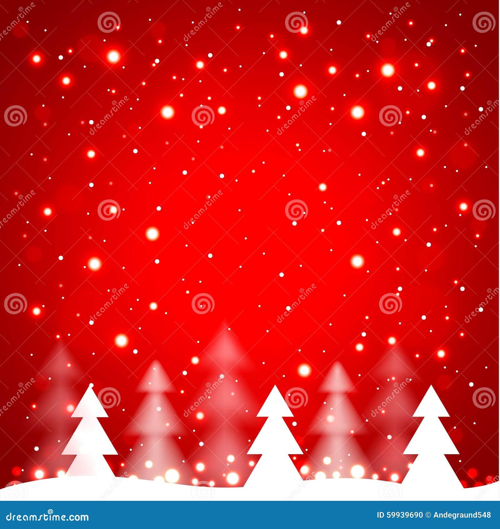 rboles de navidad simples blancos en fondo rojo