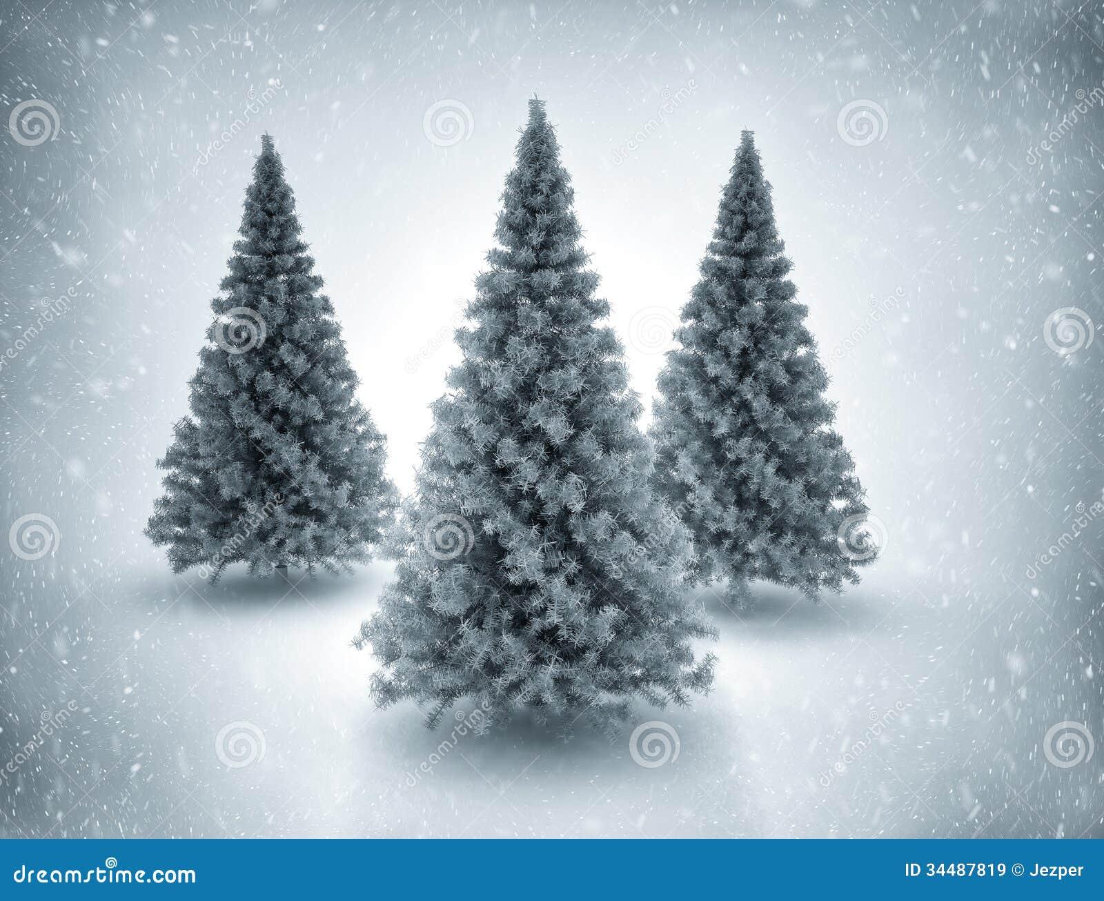 Rboles de navidad y nieve - Arbol navidad nieve ...