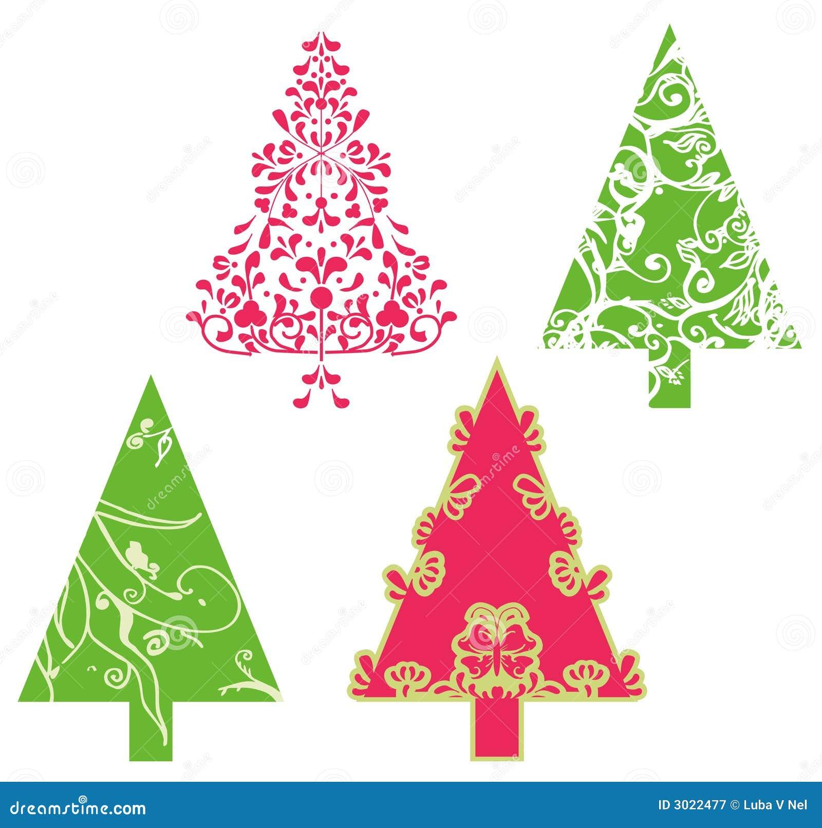 Rboles del vector de la navidad ilustraci n del vector - Arboles adornados de navidad ...
