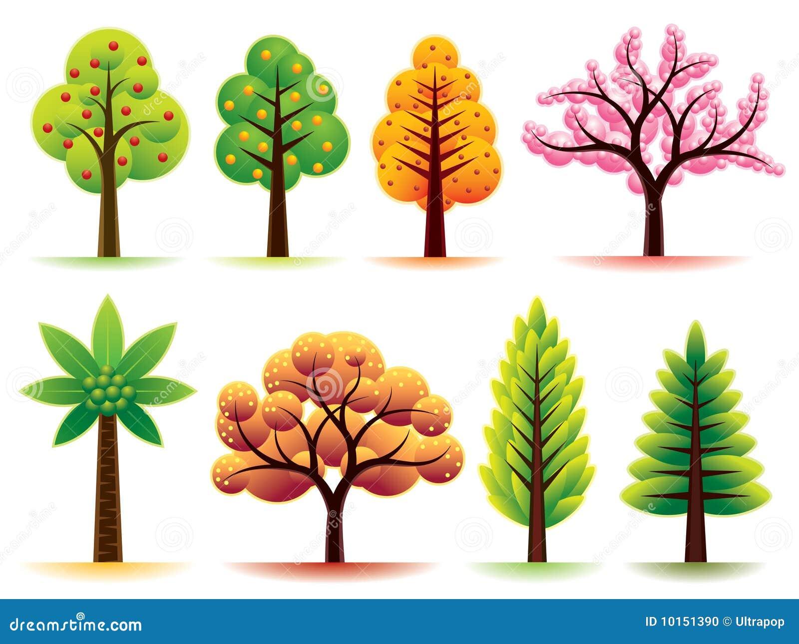 Rboles modernos ilustraci n del vector ilustraci n de for Arbol de fotos manual