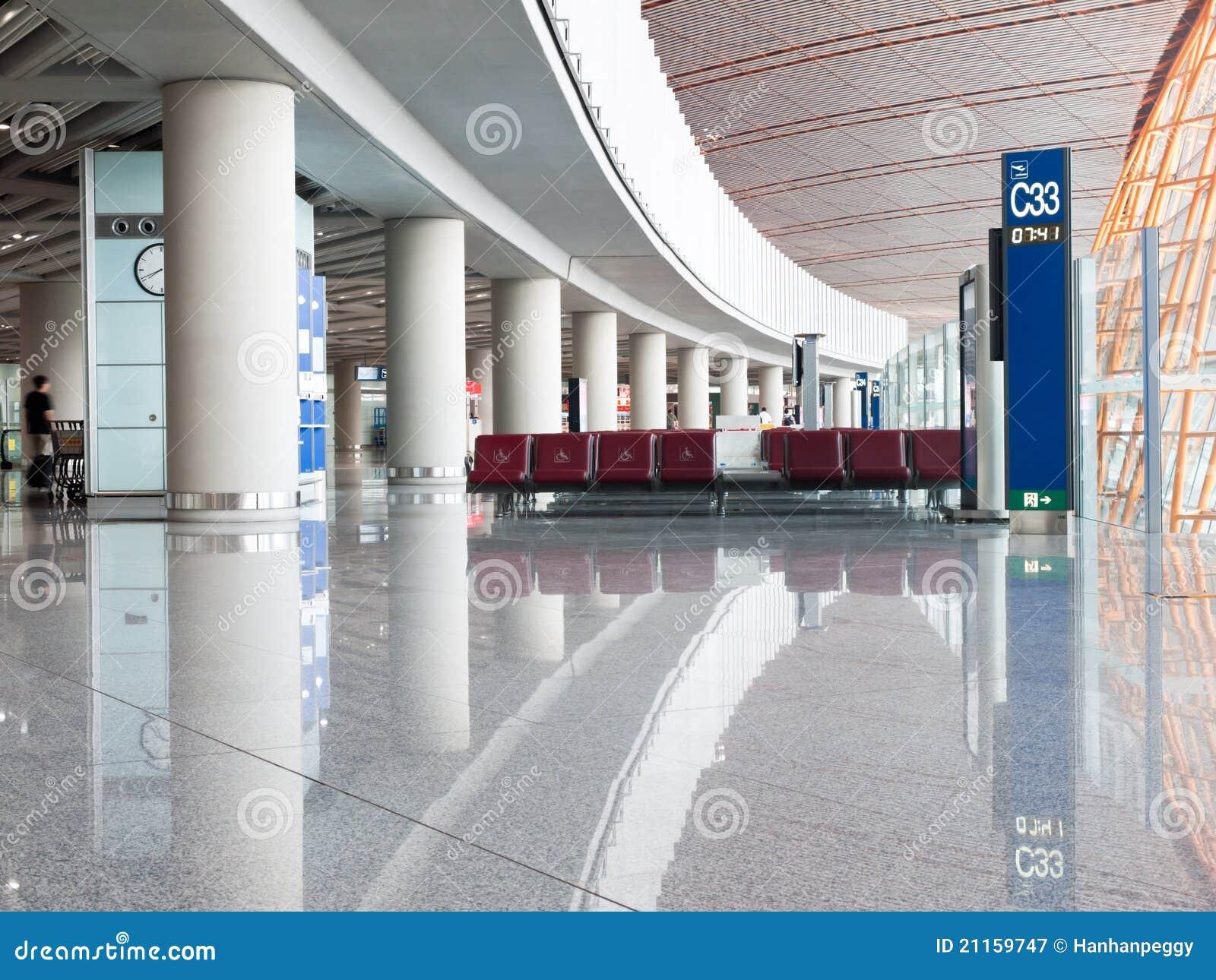 Área da partida do aeroporto