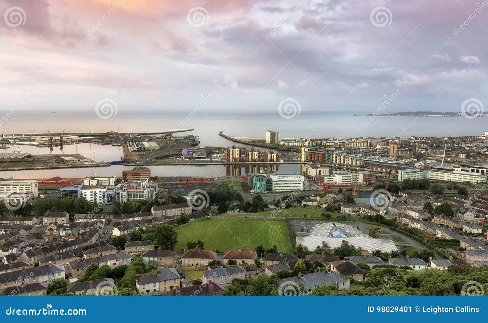 Área de doca da cidade de Swansea