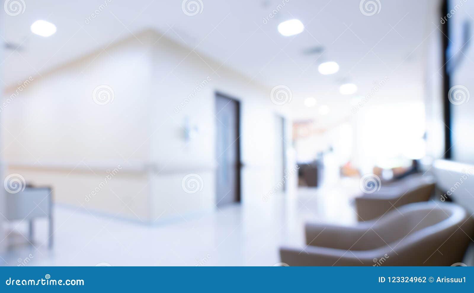 Área de espera acolhedor no hospital