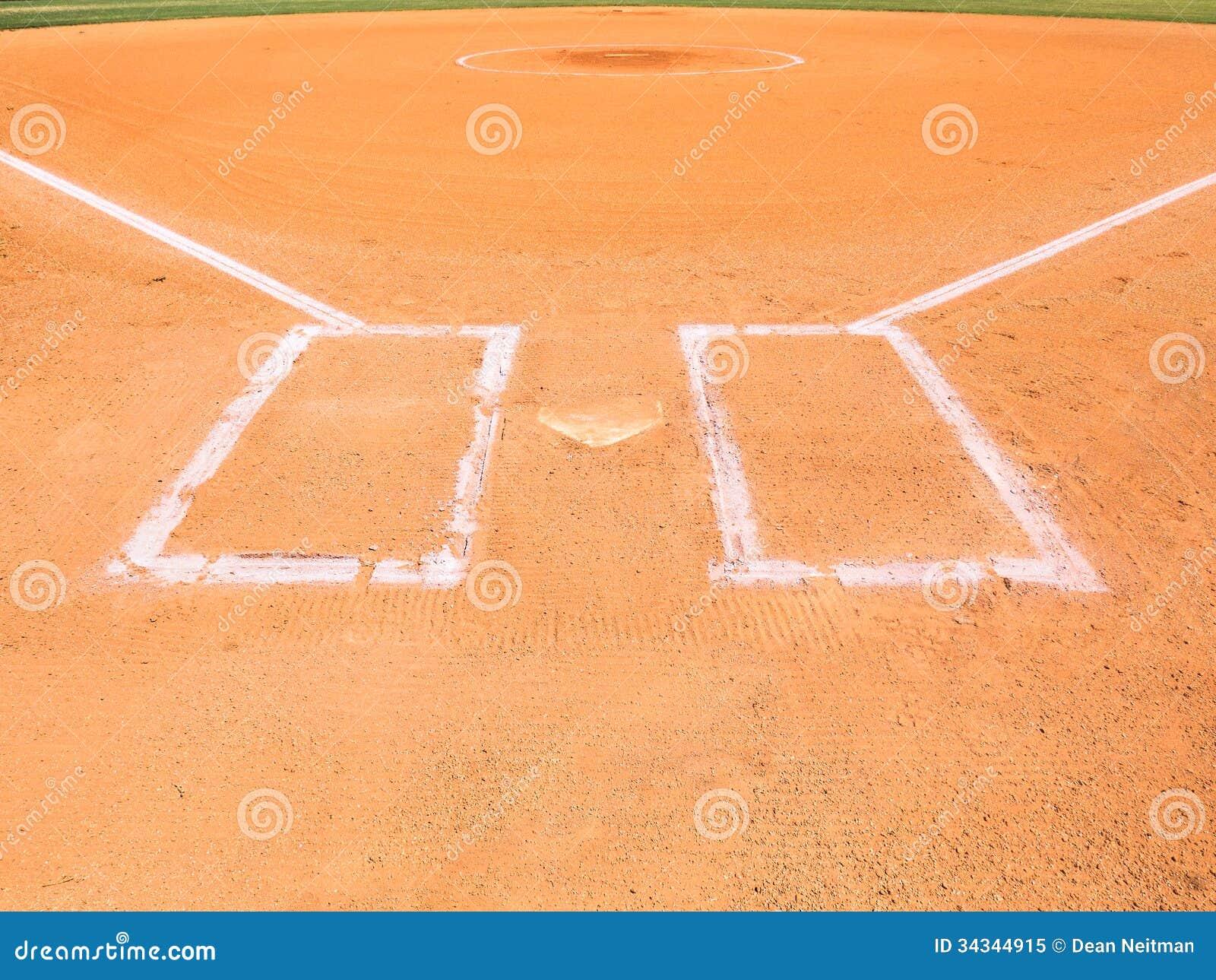 Área de la pista de aterrizaje del béisbol