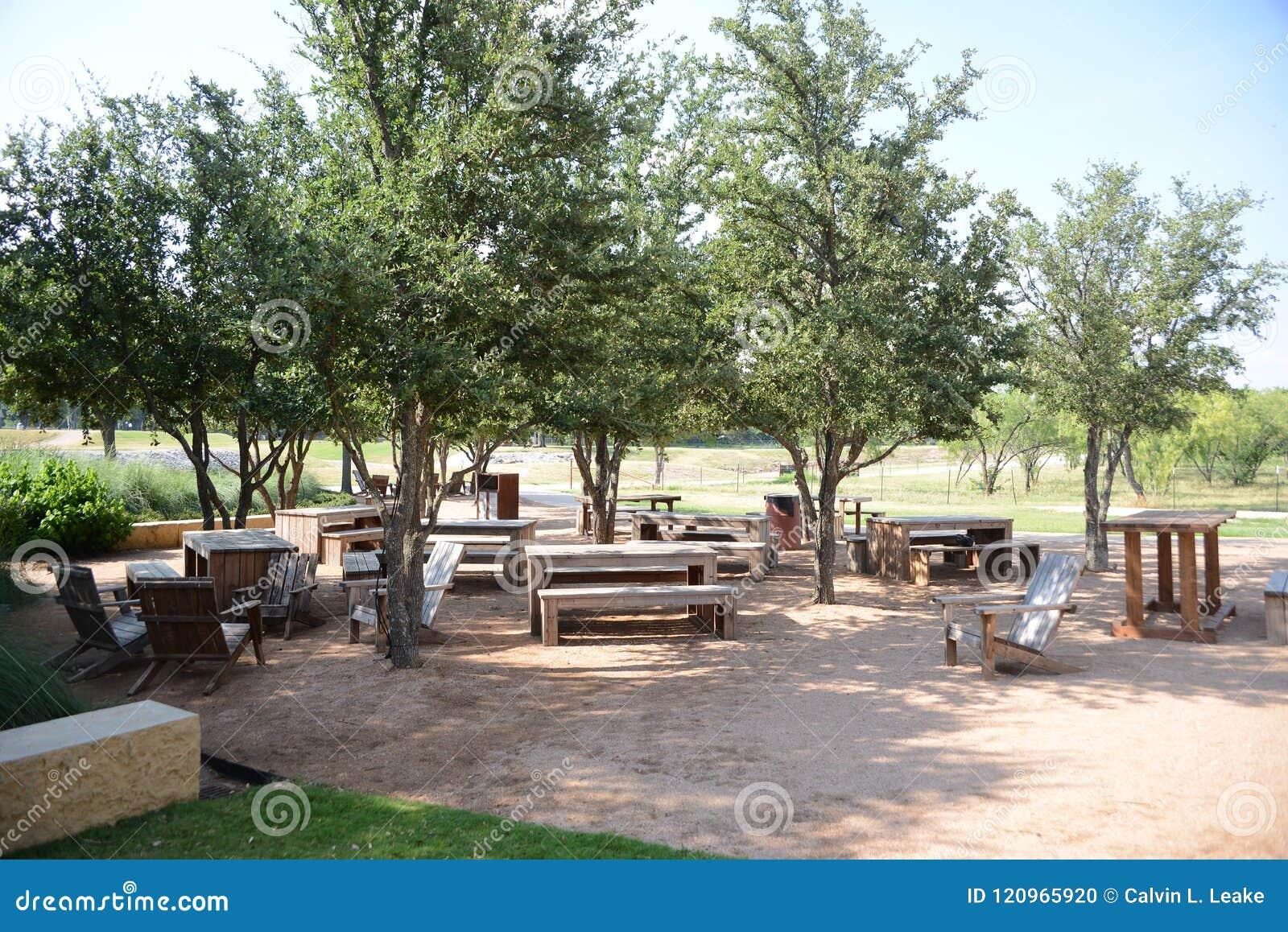 Área de piquenique de Trailhead, Fort Worth Texas