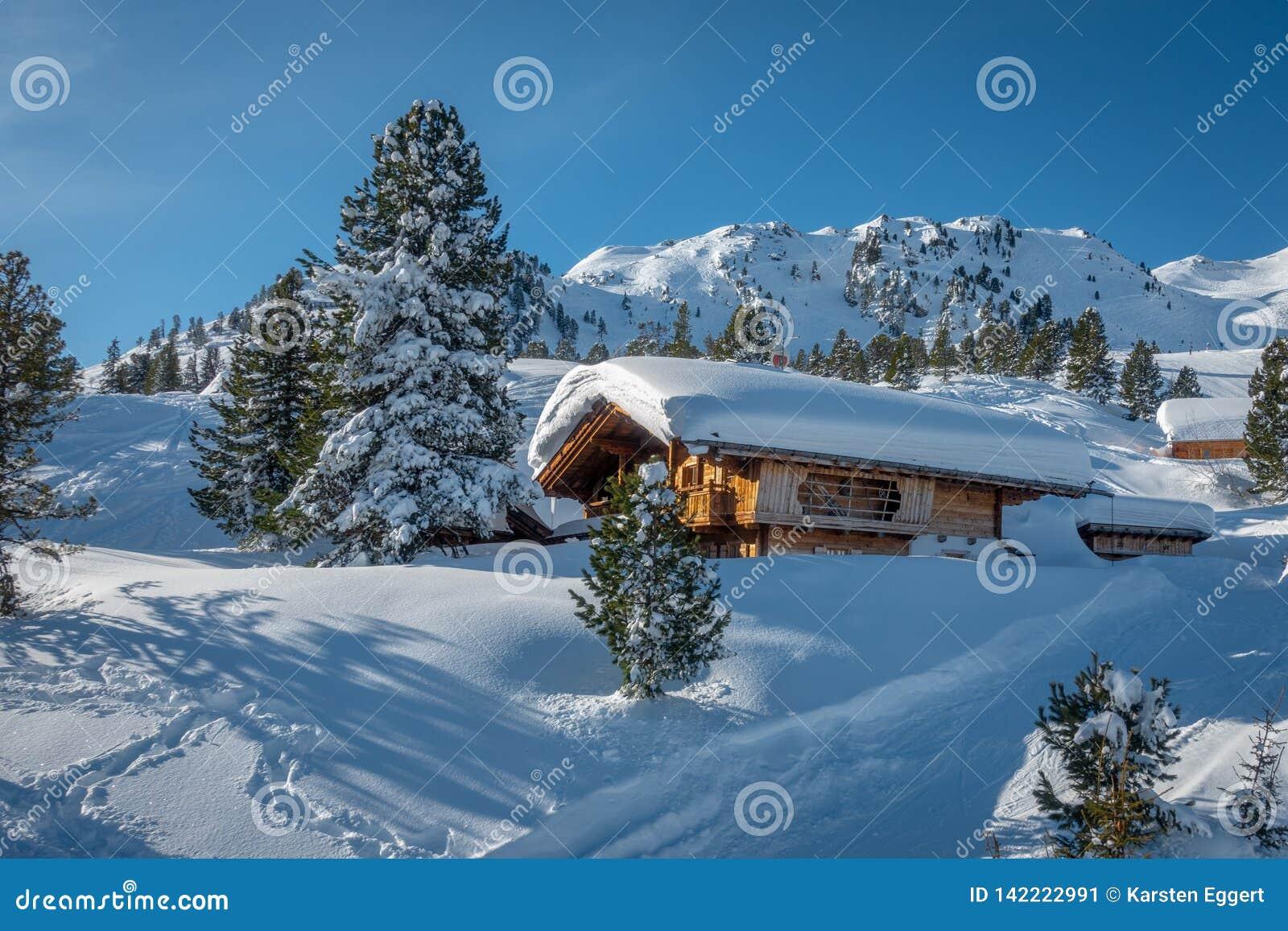 área do esqui com tempo fantástico