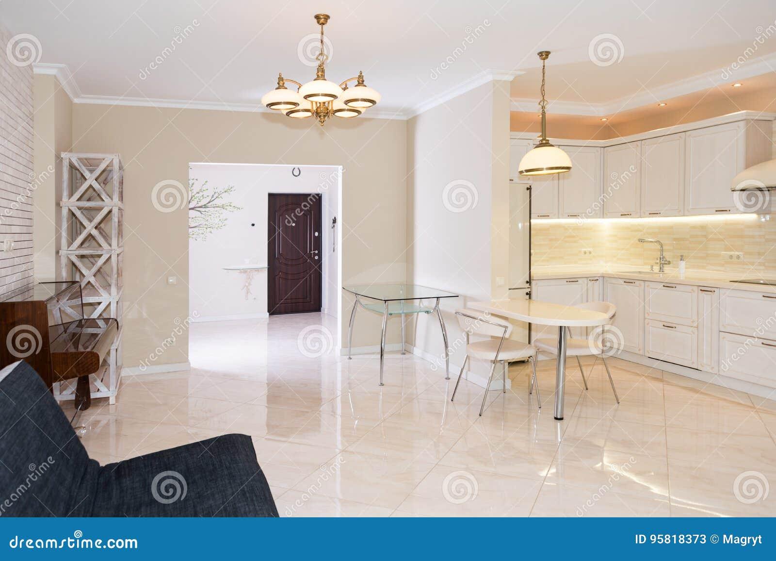Rea Moderna Da Cozinha Unida Sala De Visitas Design De Interiores